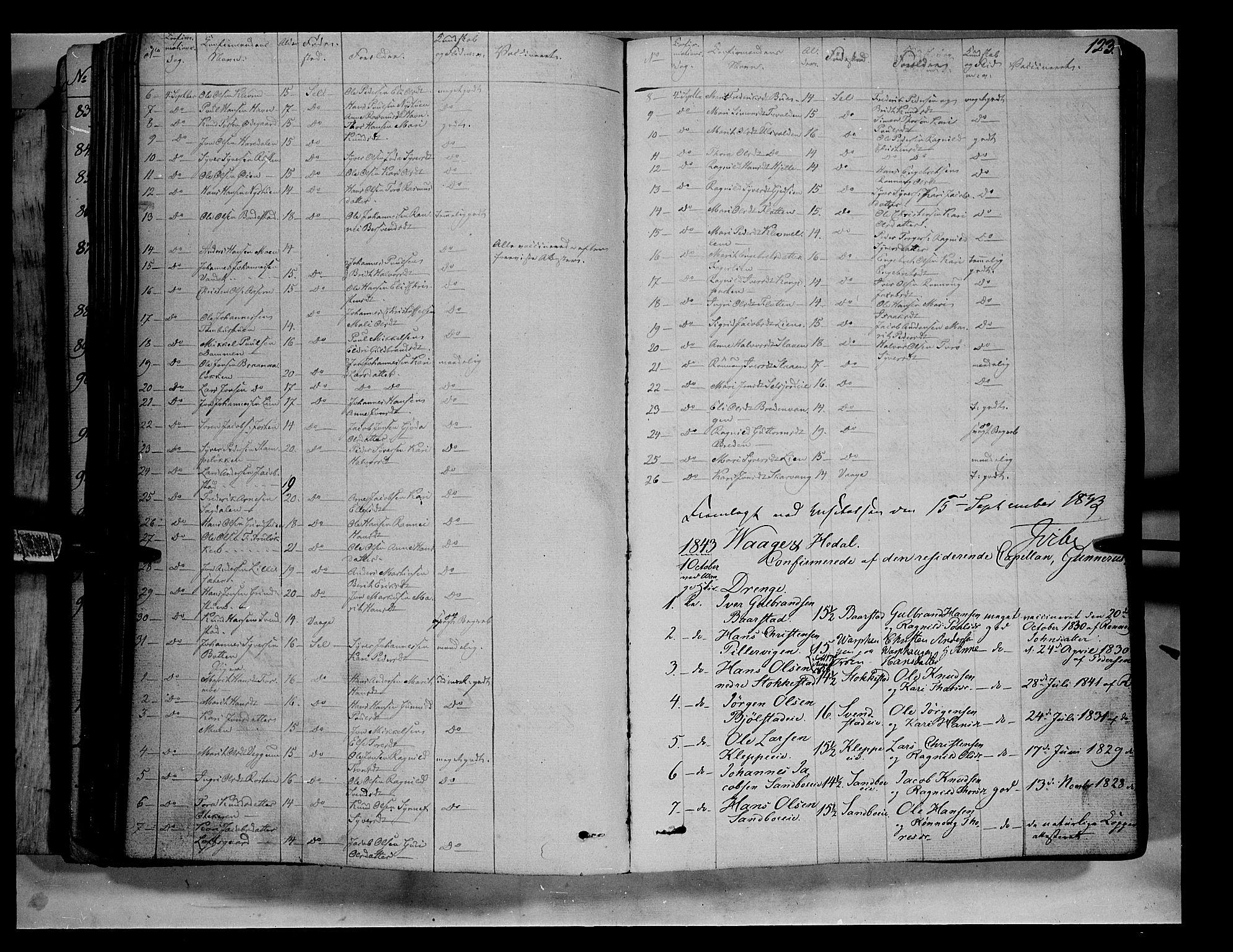 SAH, Vågå prestekontor, Ministerialbok nr. 5 /1, 1842-1856, s. 123