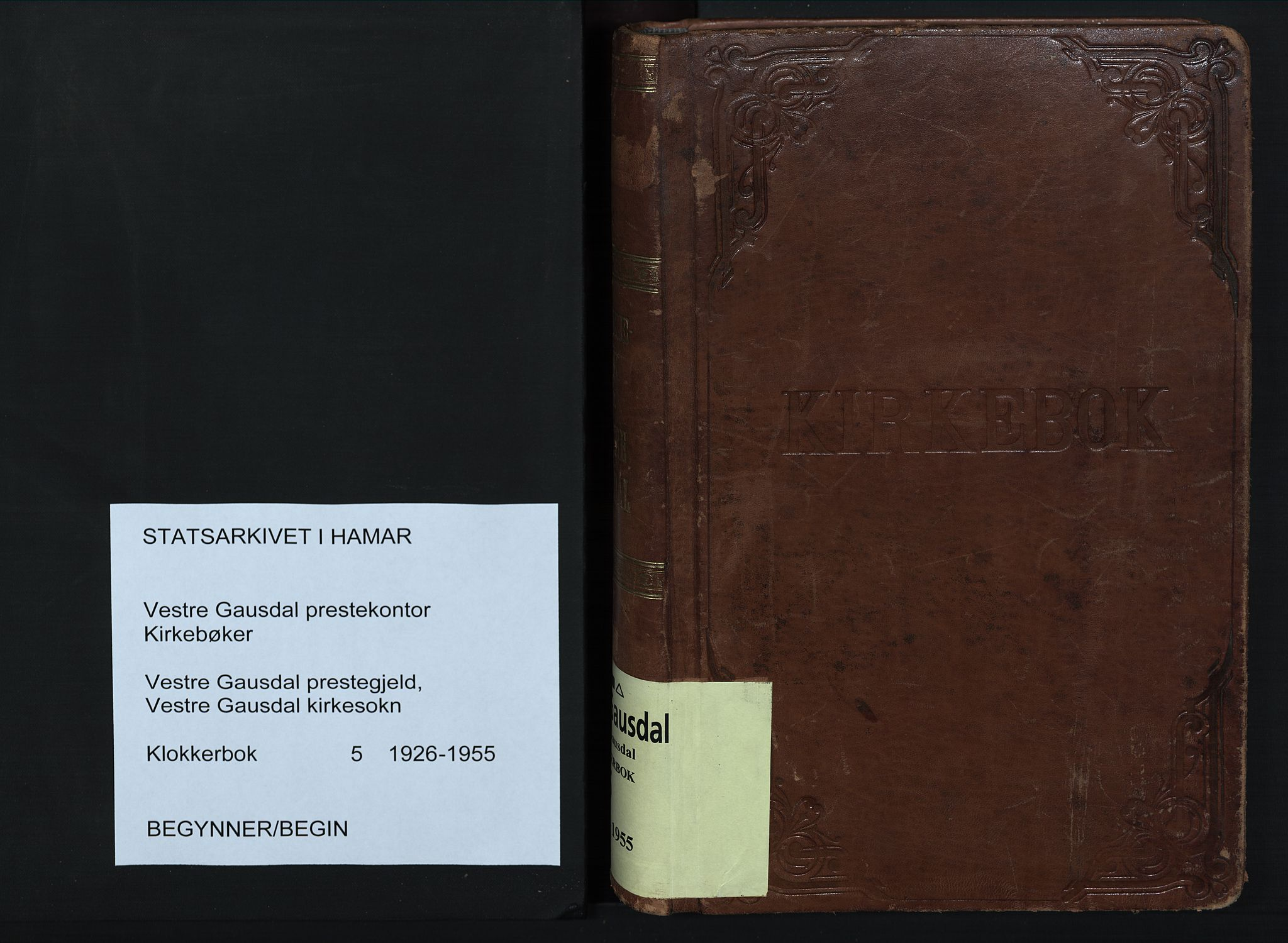 SAH, Vestre Gausdal prestekontor, Klokkerbok nr. 5, 1926-1955