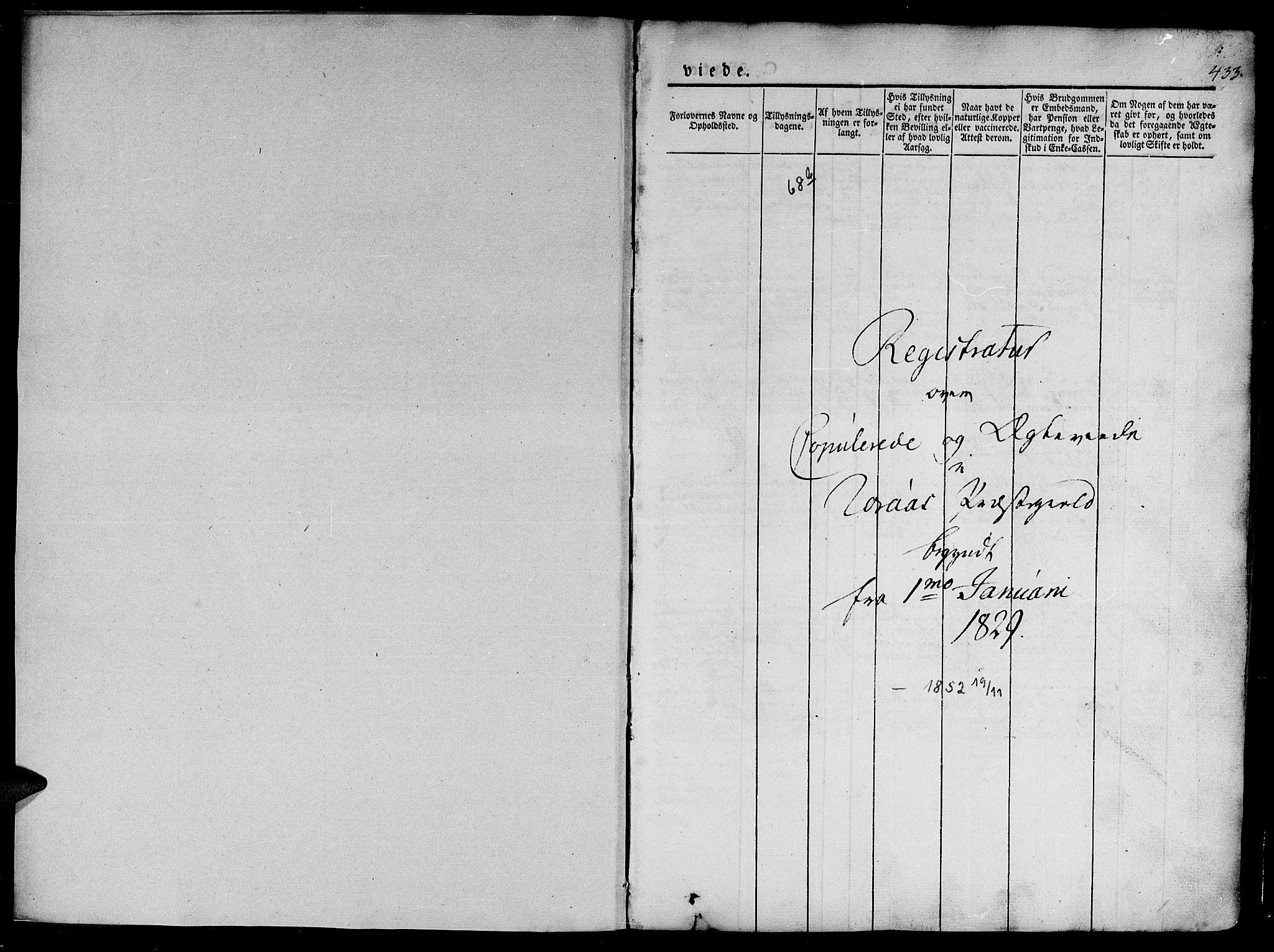 SAT, Ministerialprotokoller, klokkerbøker og fødselsregistre - Sør-Trøndelag, 681/L0939: Klokkerbok nr. 681C03, 1829-1855, s. 433