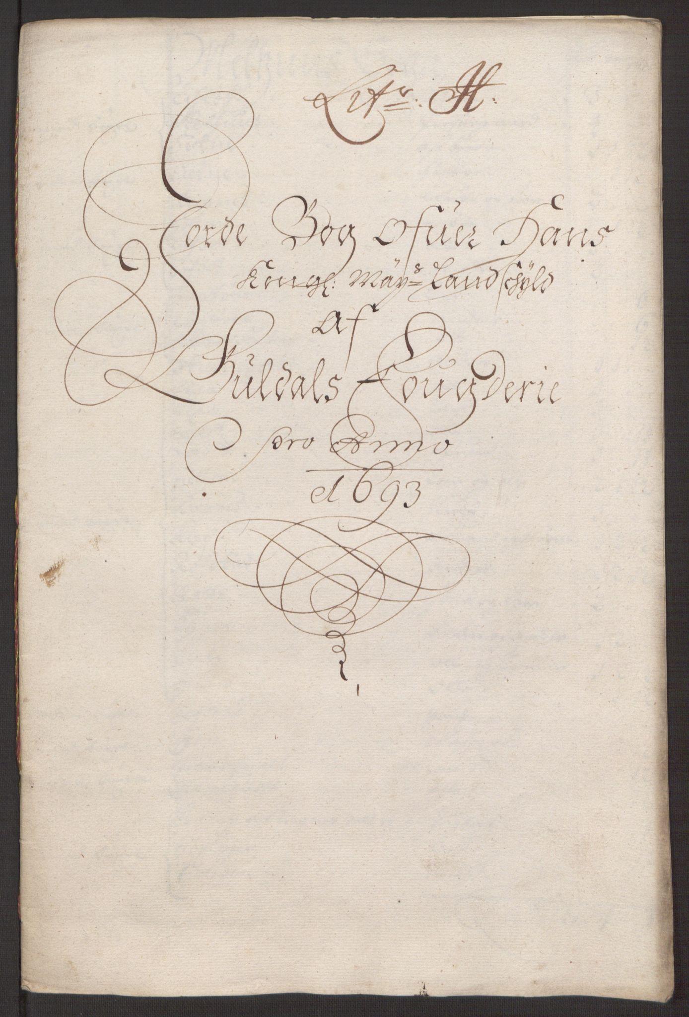 RA, Rentekammeret inntil 1814, Reviderte regnskaper, Fogderegnskap, R59/L3943: Fogderegnskap Gauldal, 1693, s. 120
