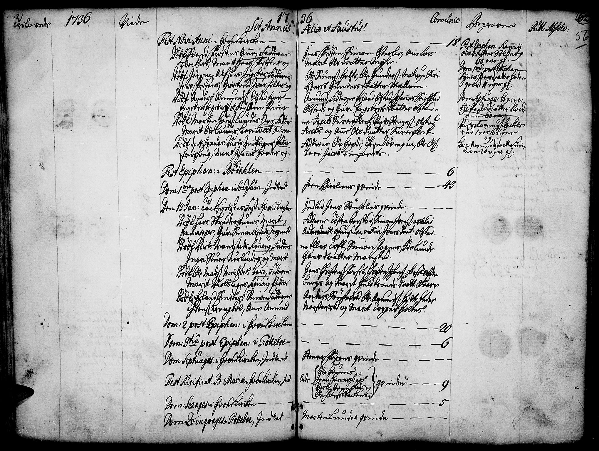 SAH, Gausdal prestekontor, Ministerialbok nr. 2, 1729-1757, s. 56