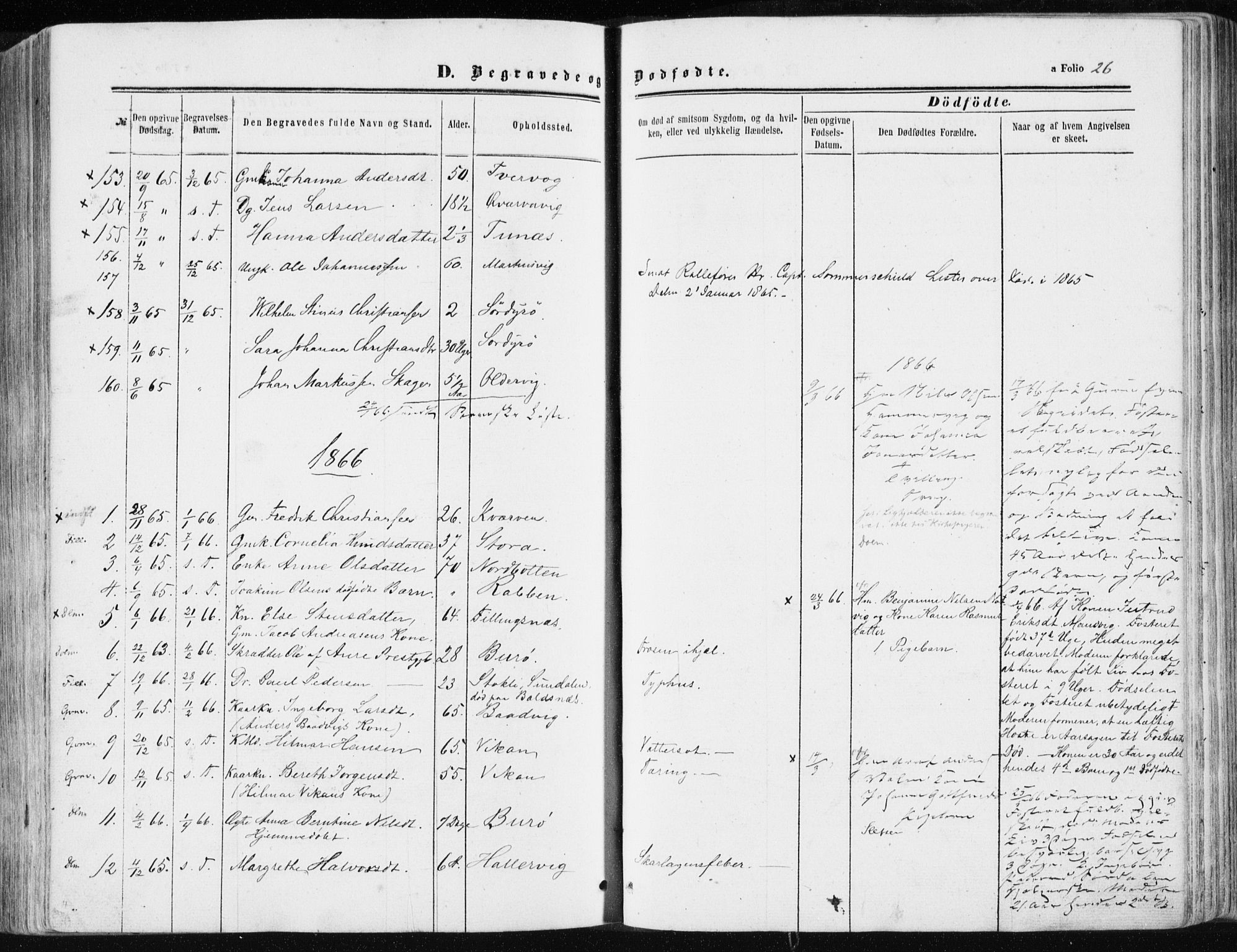 SAT, Ministerialprotokoller, klokkerbøker og fødselsregistre - Sør-Trøndelag, 634/L0531: Ministerialbok nr. 634A07, 1861-1870, s. 26