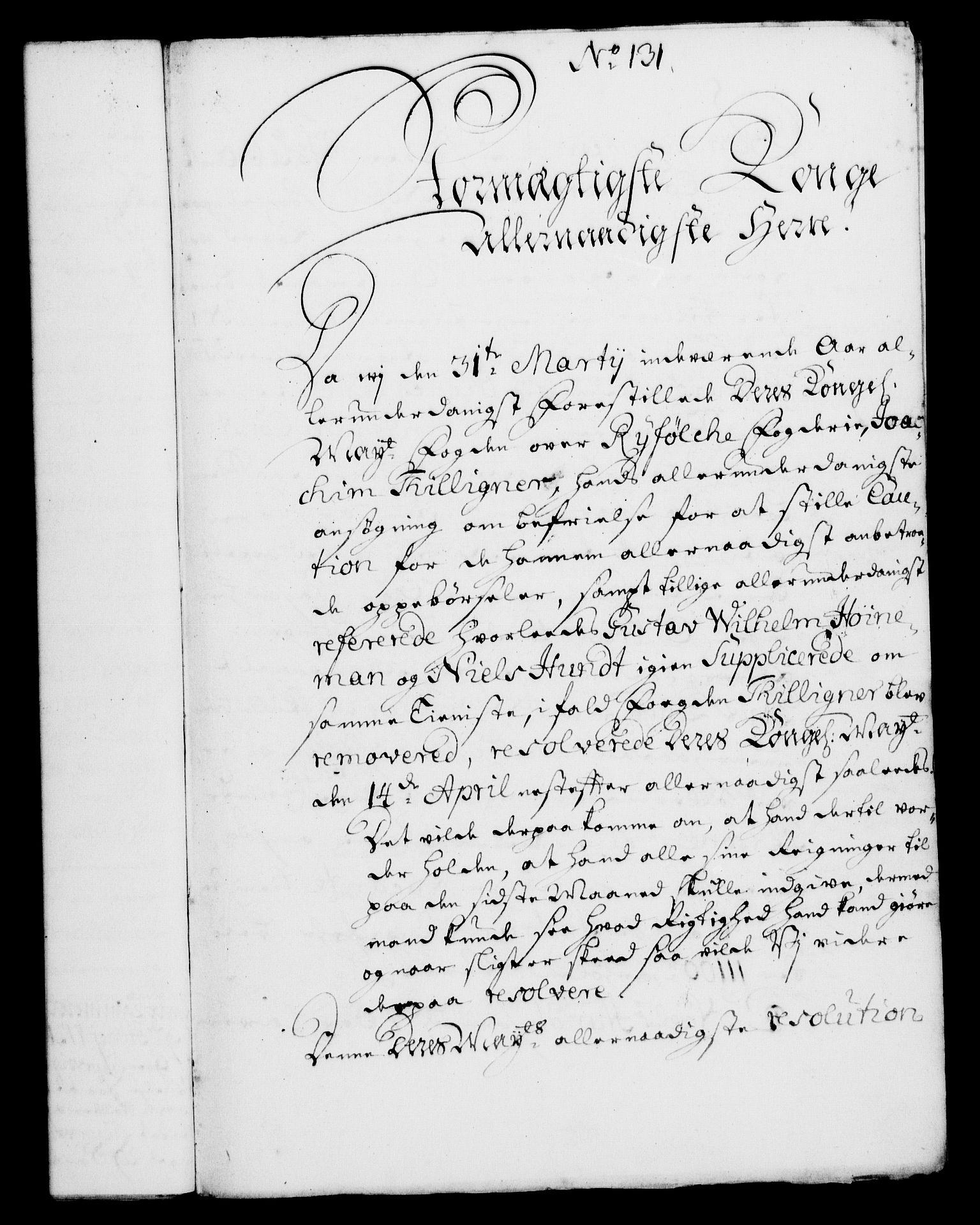 RA, Rentekammeret, Kammerkanselliet, G/Gf/Gfa/L0004: Norsk relasjons- og resolusjonsprotokoll (merket RK 52.4), 1721, s. 1007
