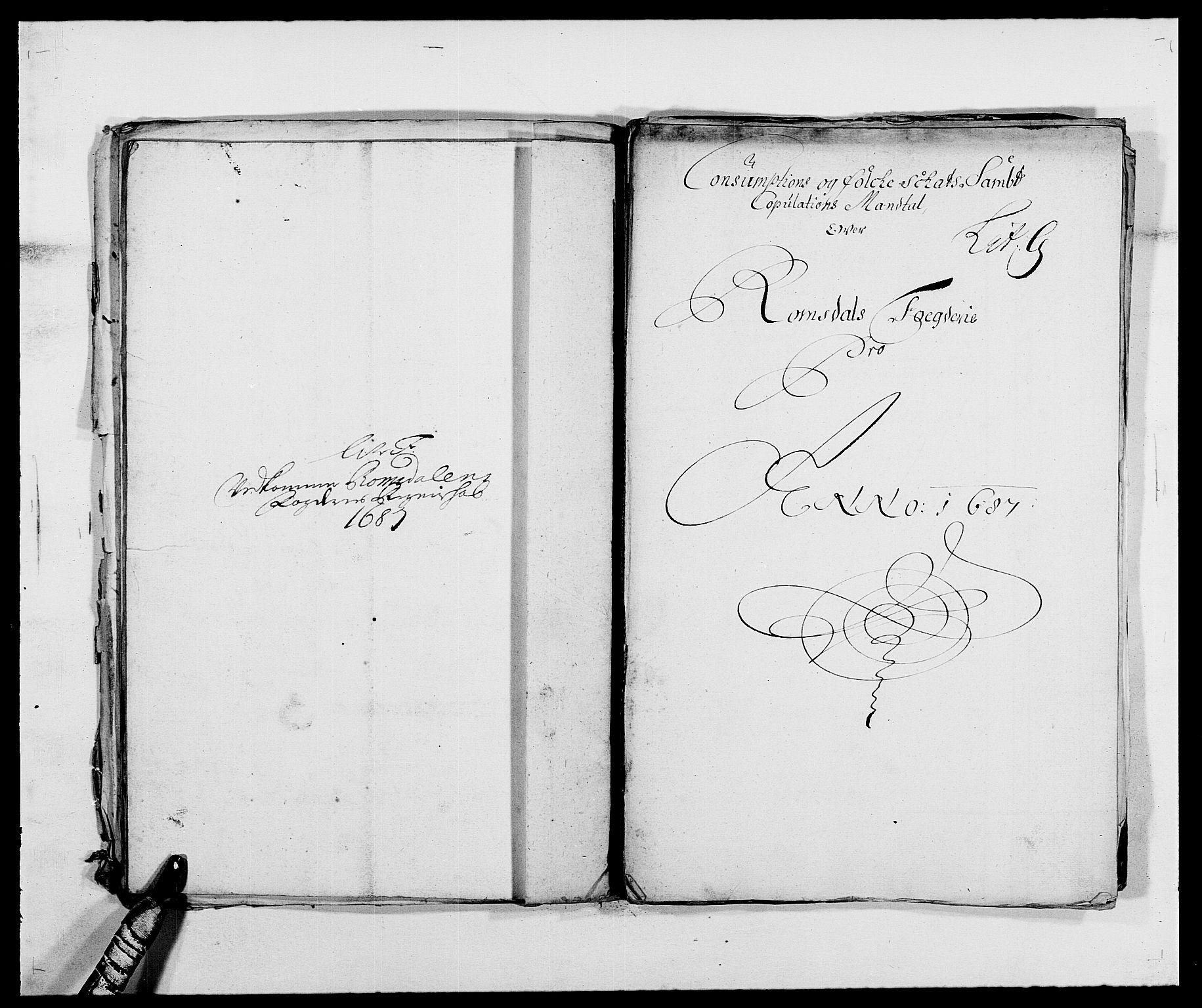 RA, Rentekammeret inntil 1814, Reviderte regnskaper, Fogderegnskap, R55/L3648: Fogderegnskap Romsdal, 1687-1689, s. 93