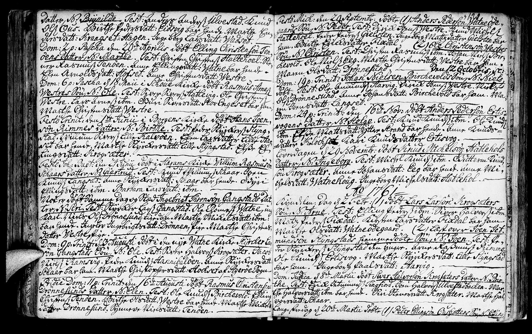 SAT, Ministerialprotokoller, klokkerbøker og fødselsregistre - Møre og Romsdal, 525/L0371: Ministerialbok nr. 525A01, 1699-1777, s. 121