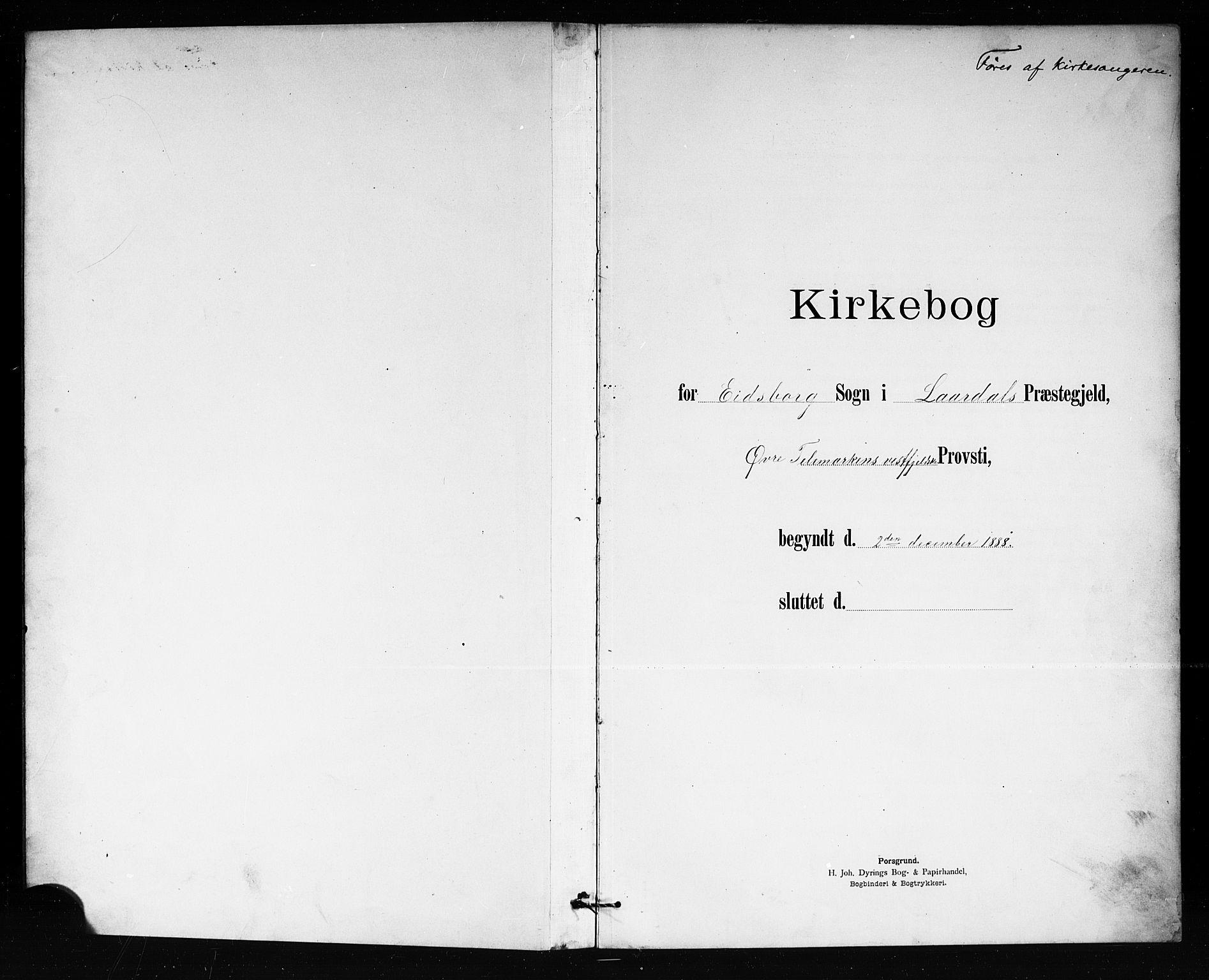 SAKO, Lårdal kirkebøker, G/Gb/L0003: Klokkerbok nr. II 3, 1889-1920
