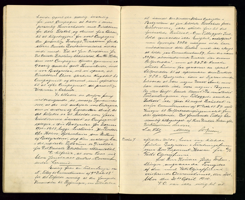 SAST, PA 1533 - A/S Vestlandske Petroleumscompani, A/Aa/L0001: Generalforsamlinger og styreprotokoller, 1907-1915, s. 26