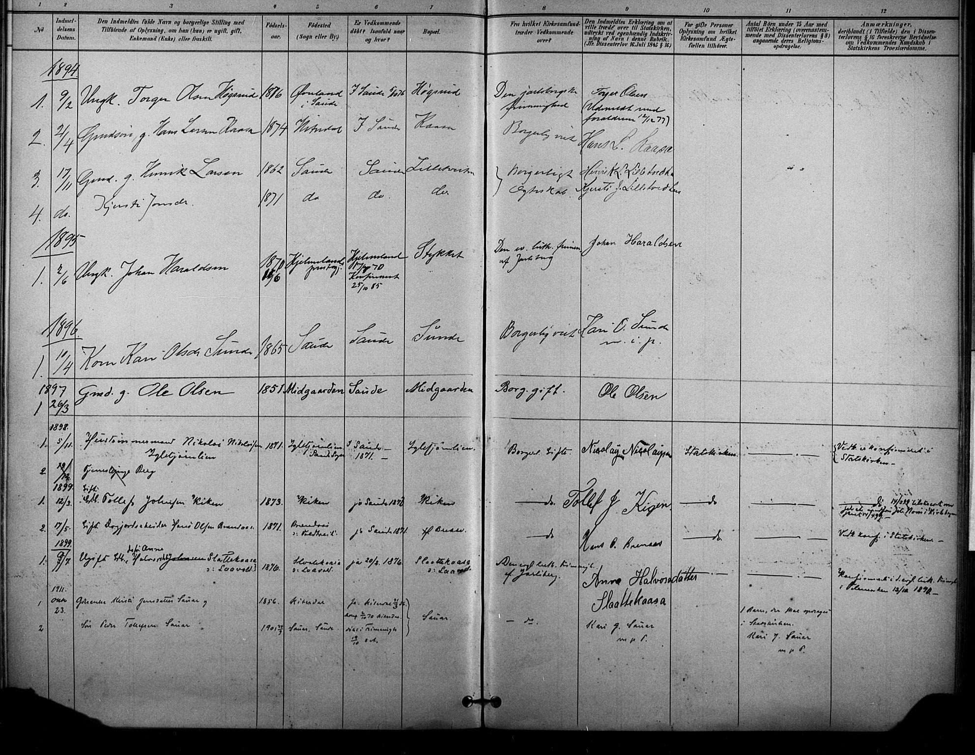 SAKO, Sauherad kirkebøker, F/Fa/L0009: Ministerialbok nr. I 9, 1887-1912, s. 221
