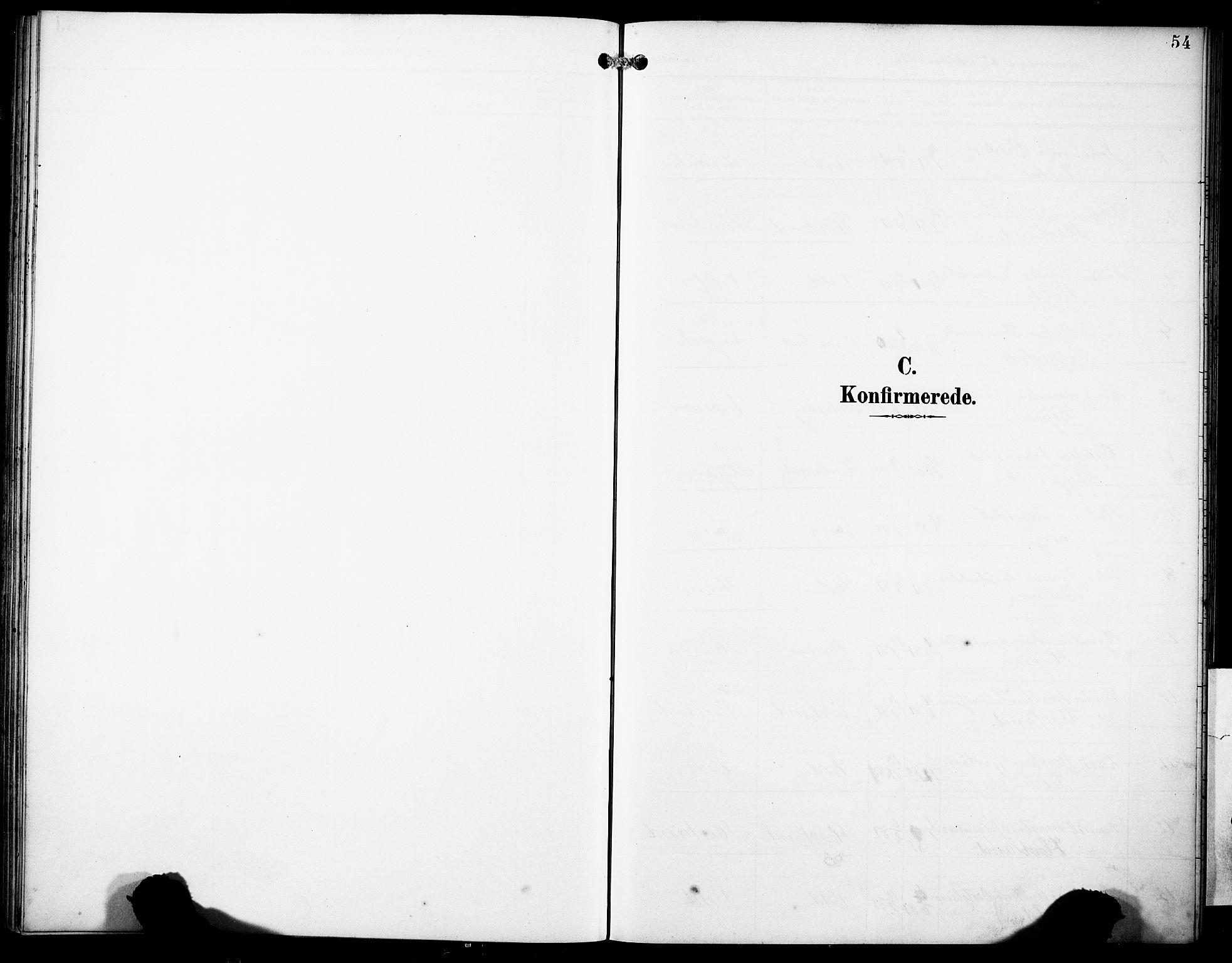 SAB, Finnås sokneprestembete, H/Ha/Haa/Haad/L0002: Ministerialbok nr. D 2, 1895-1906, s. 54