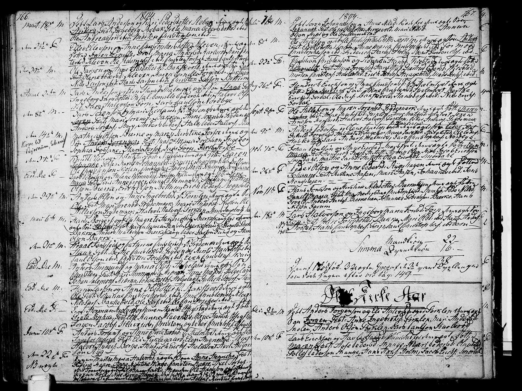 SAKO, Våle kirkebøker, F/Fa/L0005: Ministerialbok nr. I 5, 1773-1808, s. 166-167