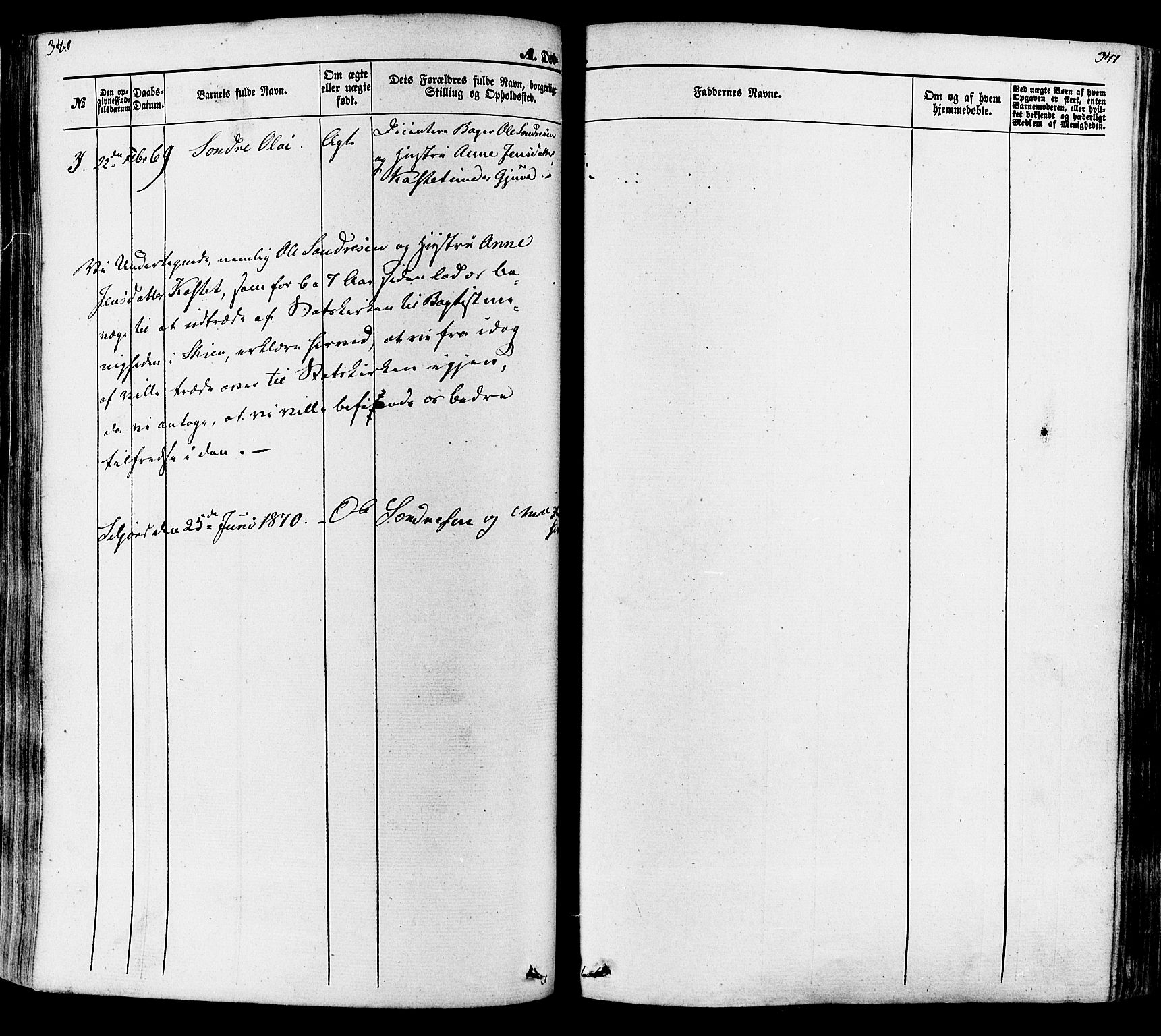 SAKO, Seljord kirkebøker, F/Fa/L0013: Ministerialbok nr. I 13, 1866-1876, s. 340-341
