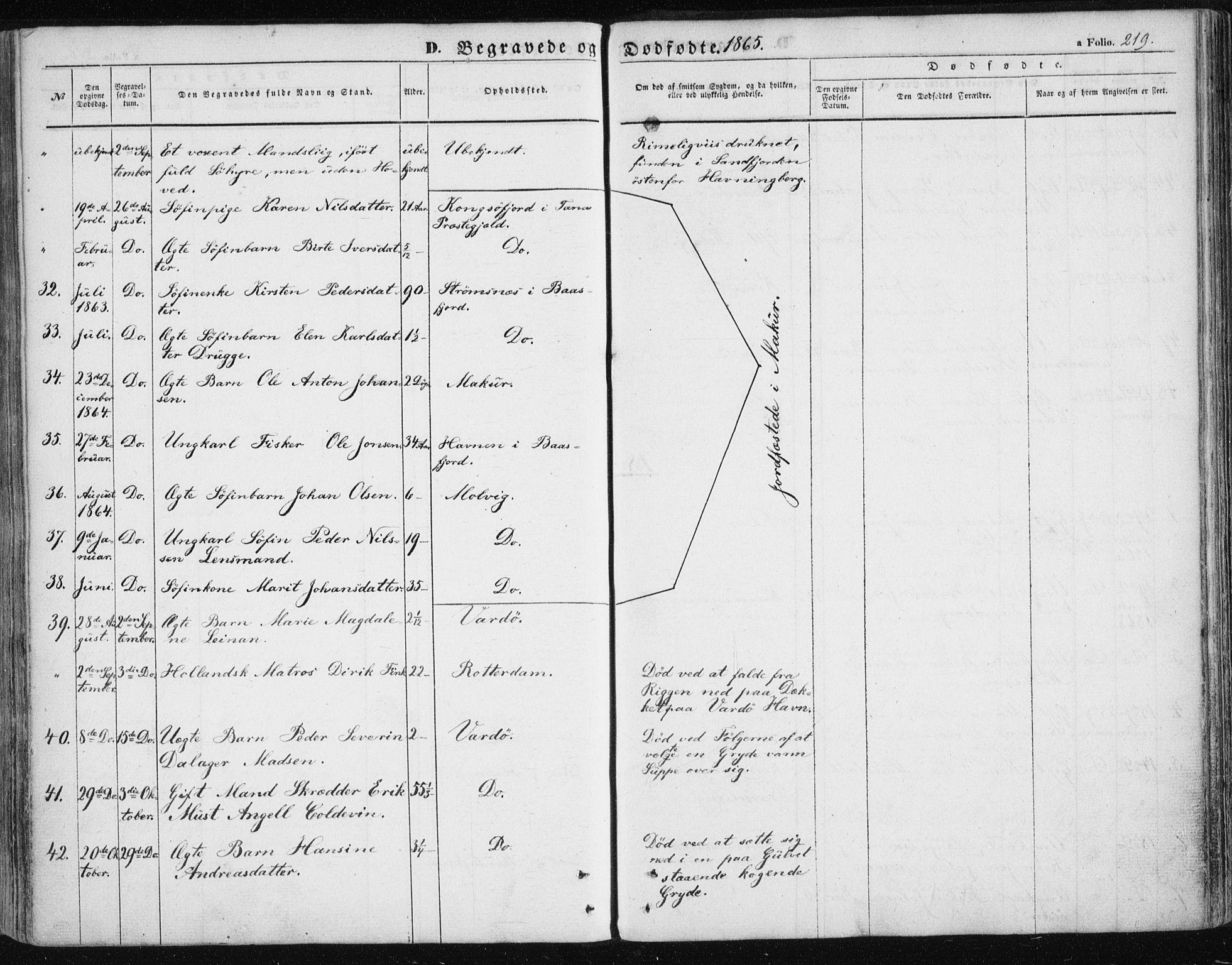 SATØ, Vardø sokneprestkontor, H/Ha/L0004kirke: Ministerialbok nr. 4, 1862-1871, s. 219