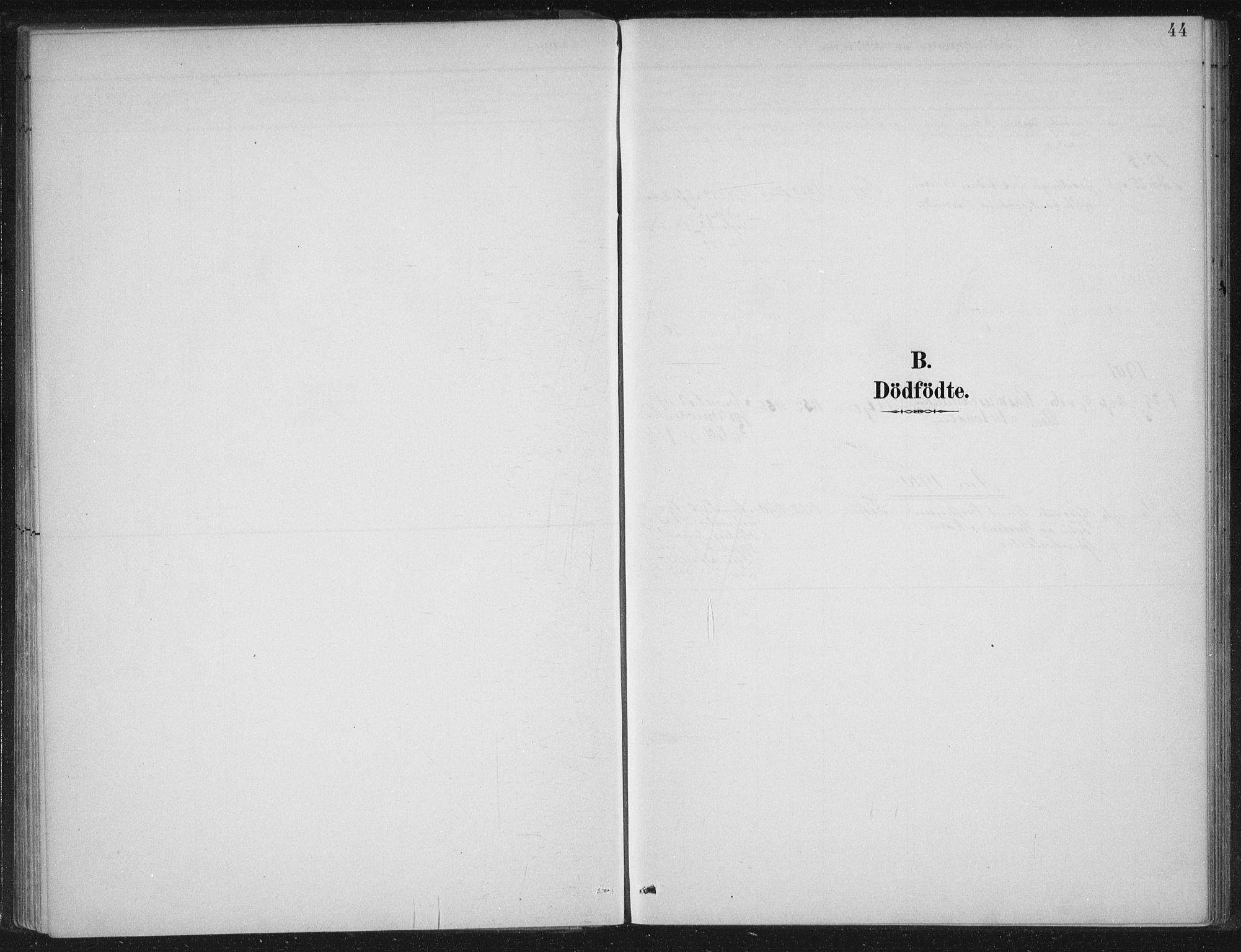 SAB, Gloppen sokneprestembete, H/Haa/Haad/L0001: Ministerialbok nr. D  1, 1885-1910, s. 44