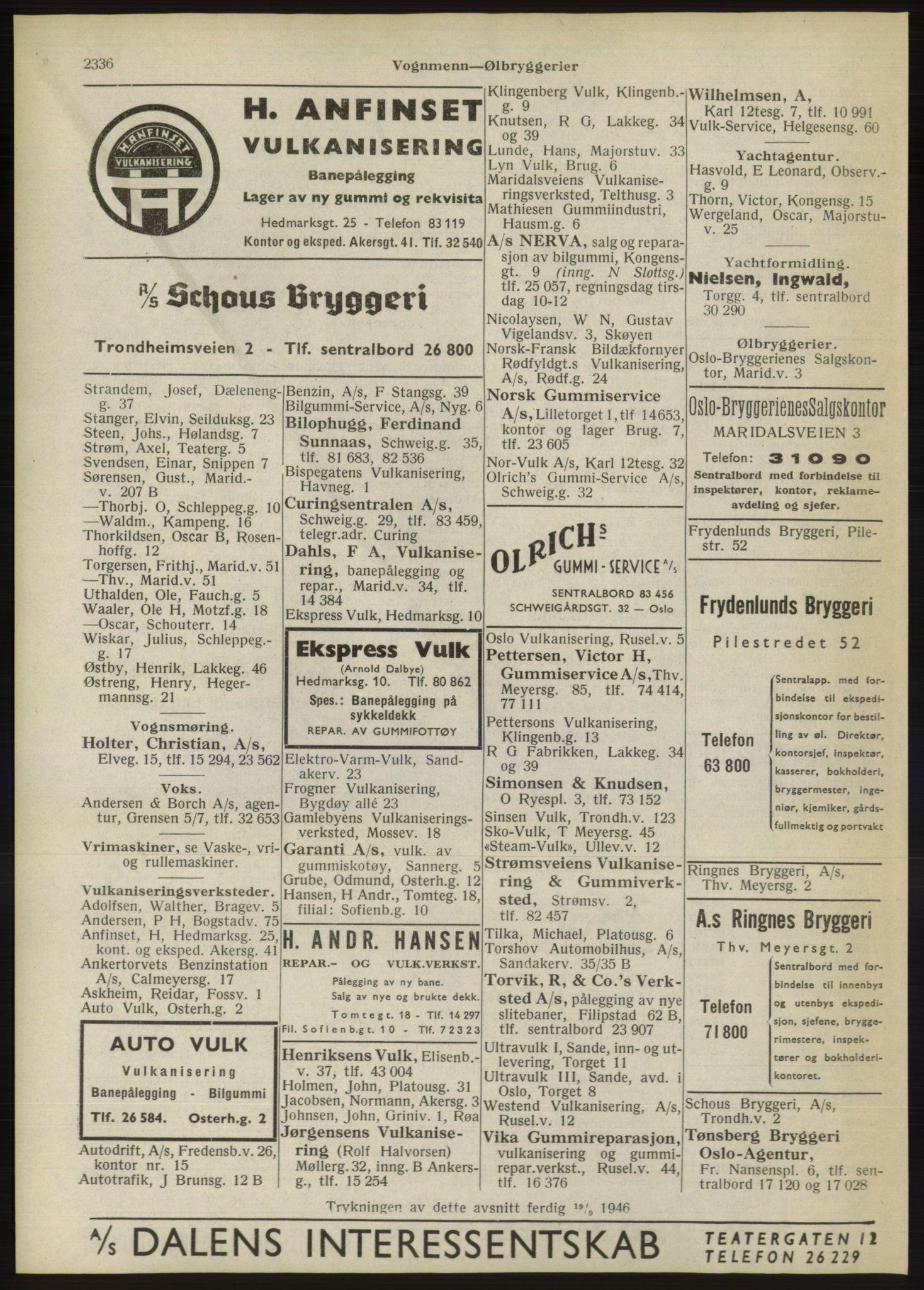 RA, Oslo adressebok (publikasjon)*, 1946, s. 2336