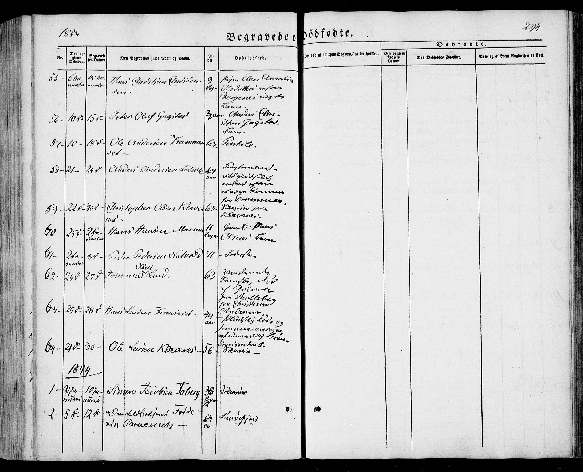 SAKO, Sandar kirkebøker, F/Fa/L0006: Ministerialbok nr. 6, 1847-1860, s. 294