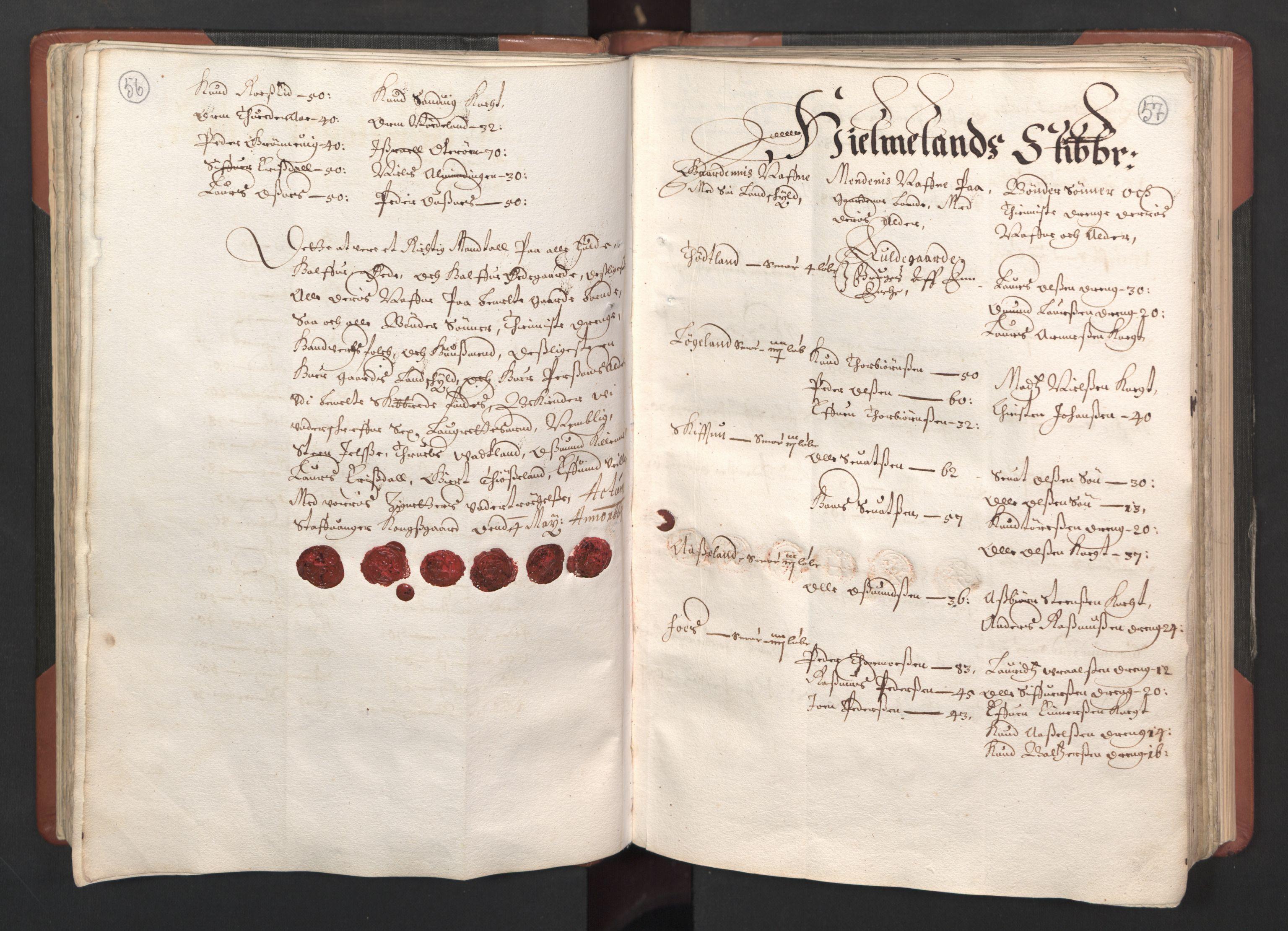 RA, Fogdenes og sorenskrivernes manntall 1664-1666, nr. 12: Ryfylke fogderi, 1664, s. 56-57