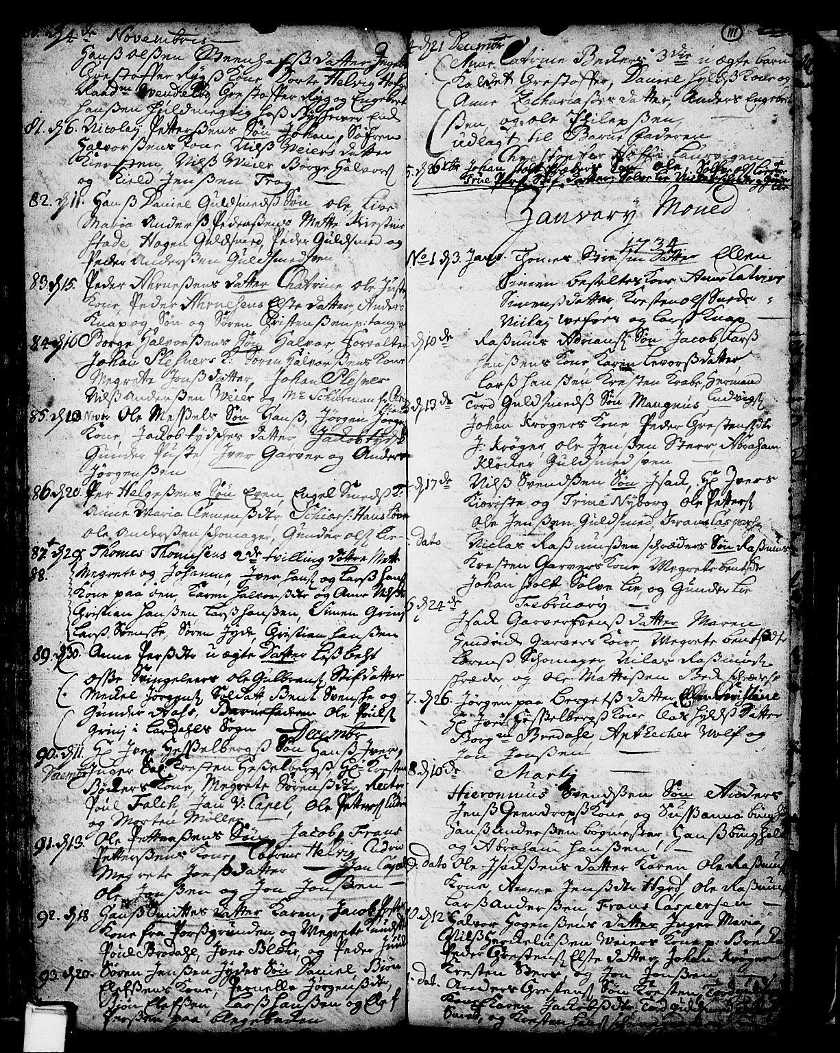 SAKO, Skien kirkebøker, F/Fa/L0002: Ministerialbok nr. 2, 1716-1757, s. 111