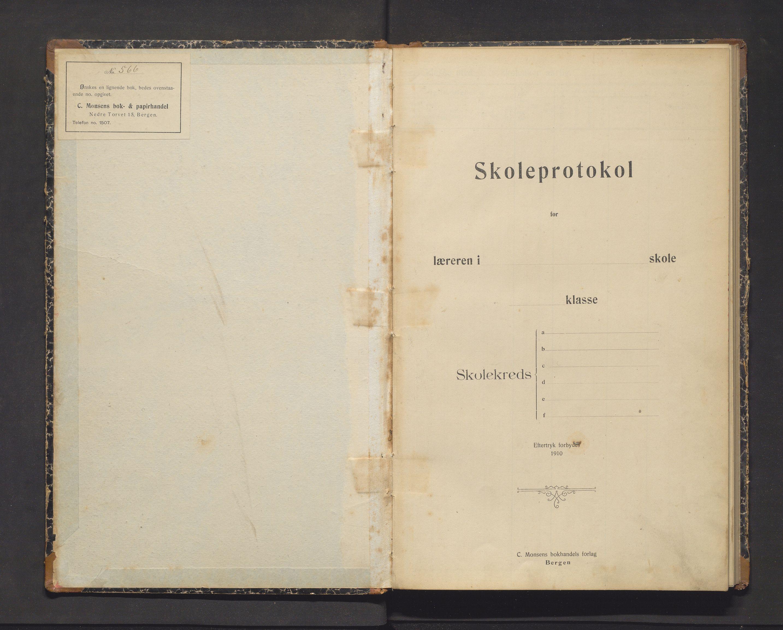 IKAH, Fjelberg kommune. Barneskulane, F/Fb/L0009: Skuleprotokoll for Sjo skule, 1911-1919