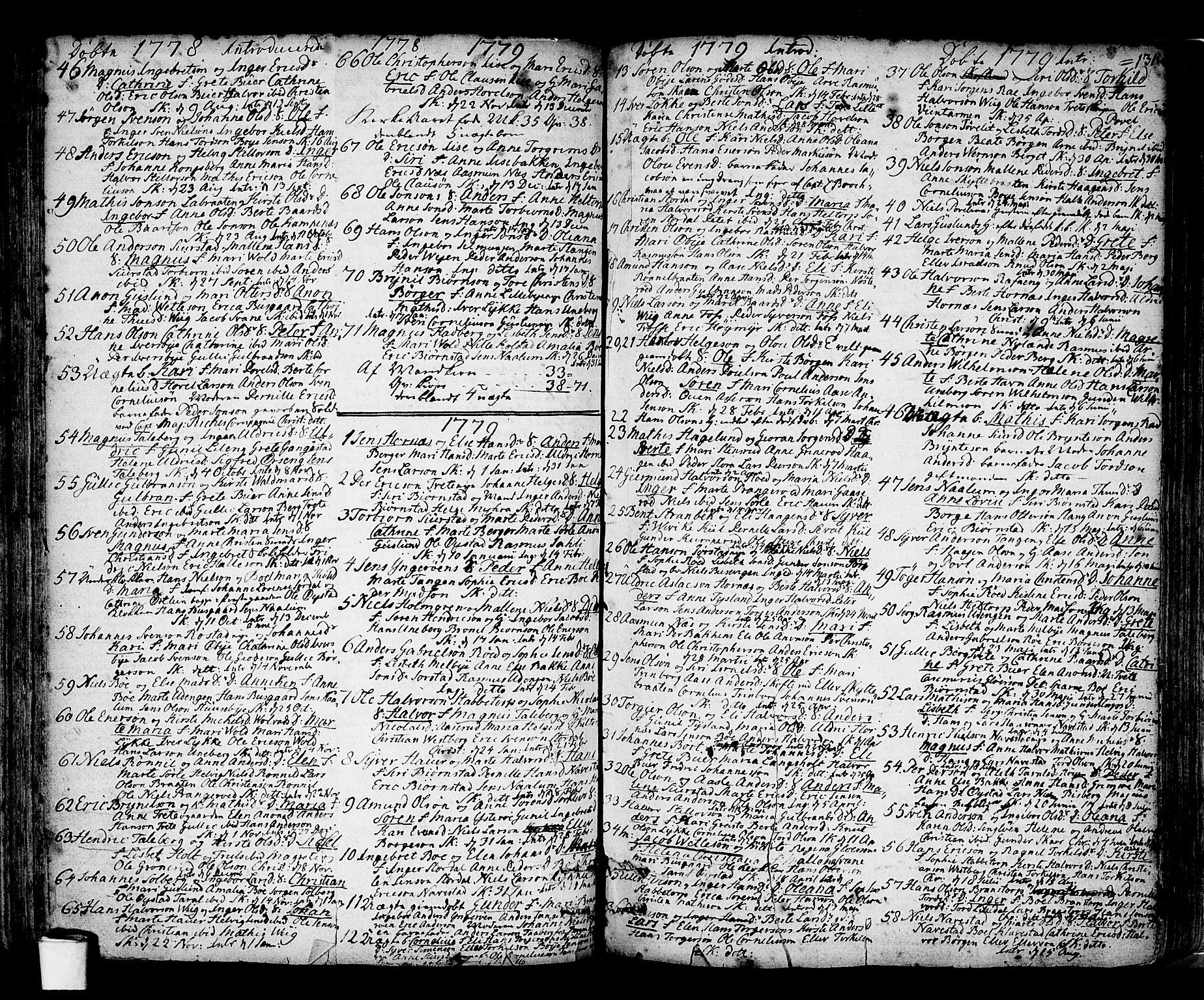 SAO, Skjeberg prestekontor Kirkebøker, F/Fa/L0002: Ministerialbok nr. I 2, 1726-1791, s. 131