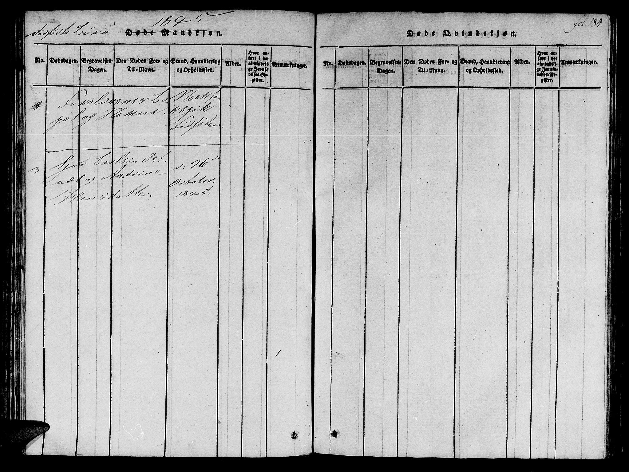 SAT, Ministerialprotokoller, klokkerbøker og fødselsregistre - Møre og Romsdal, 536/L0495: Ministerialbok nr. 536A04, 1818-1847, s. 184