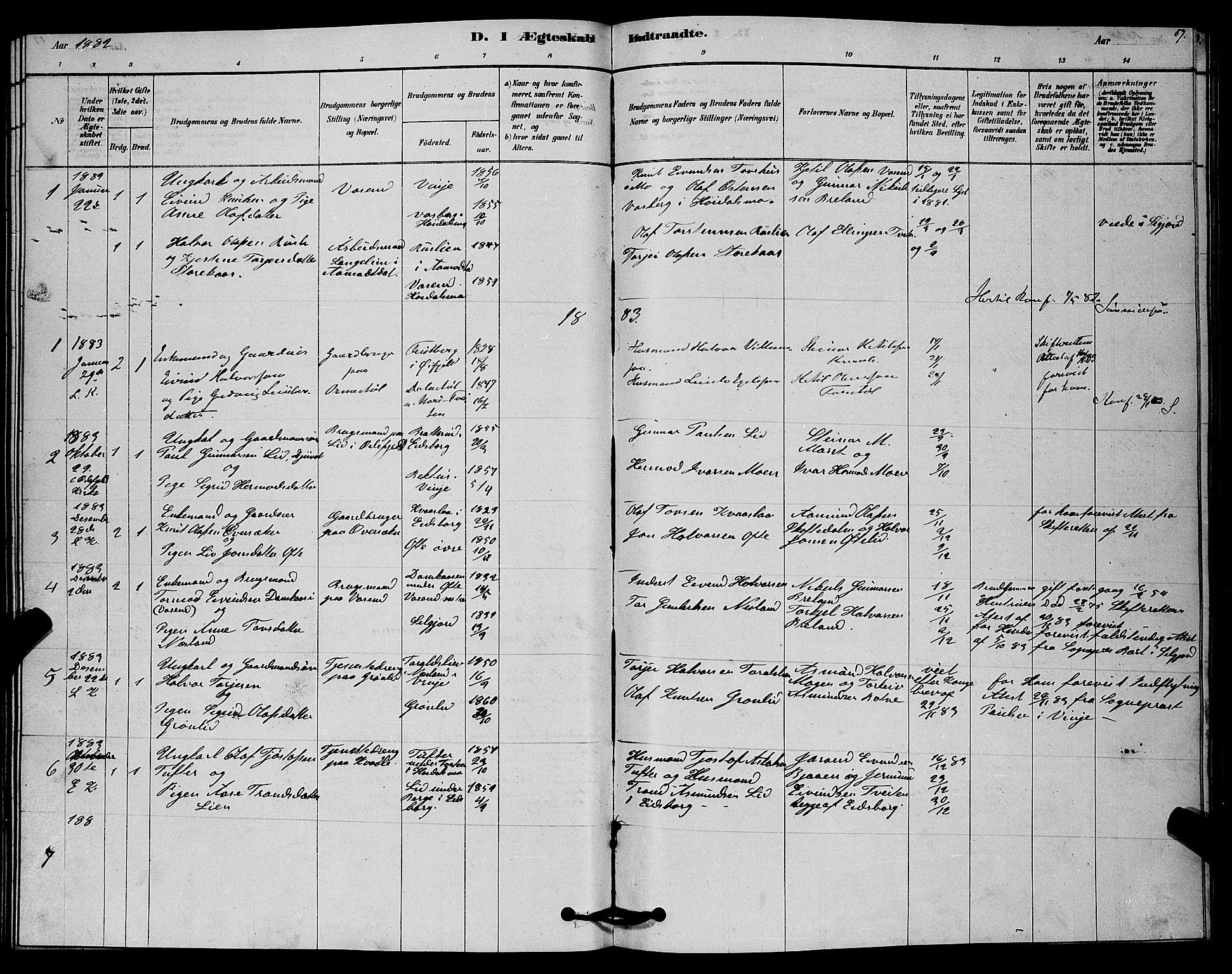 SAKO, Lårdal kirkebøker, G/Gc/L0003: Klokkerbok nr. III 3, 1878-1890, s. 59