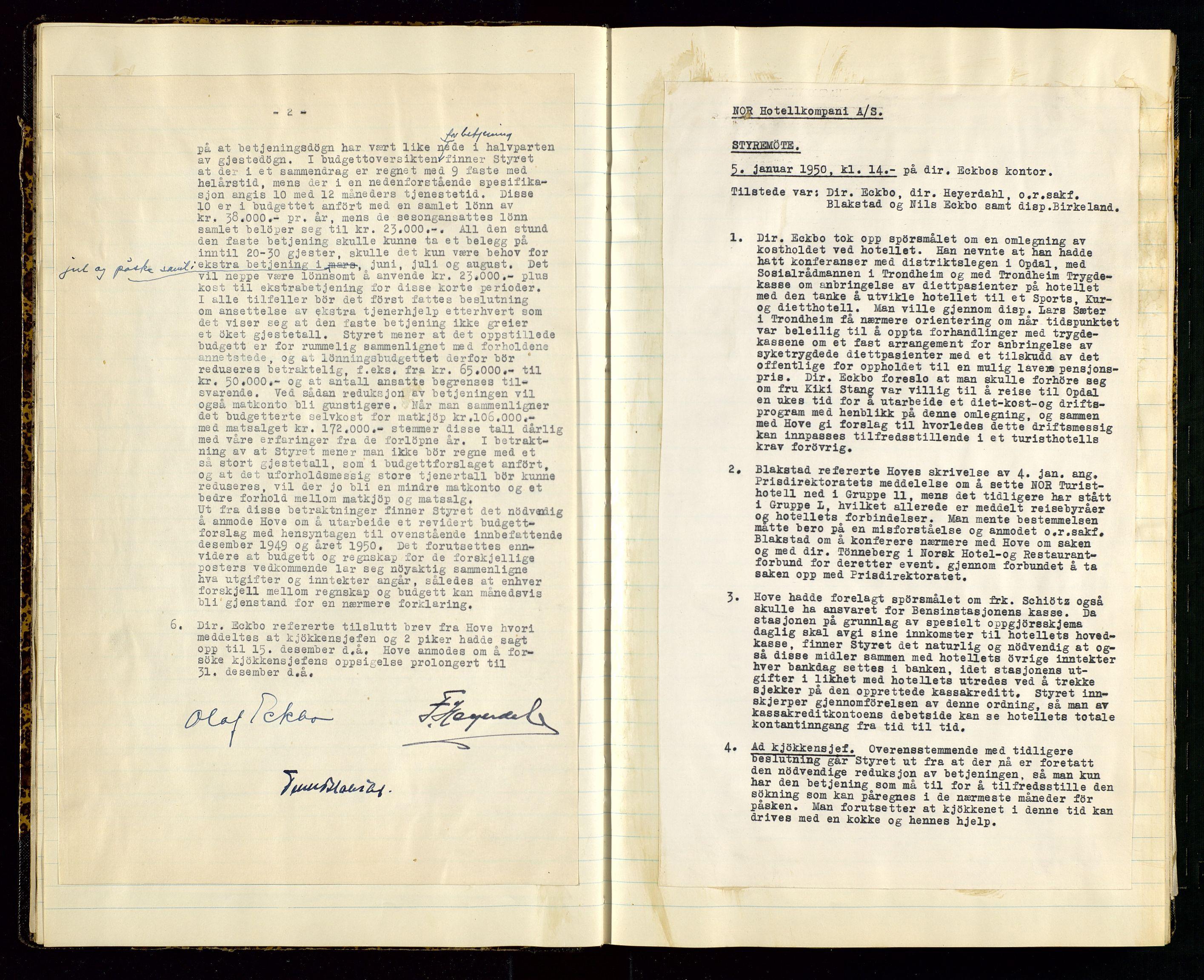 SAST, PA 1516 - Nor Hotellkompani A/S, A/L0001: Referatprotokoll, 1948-1855, s. 12