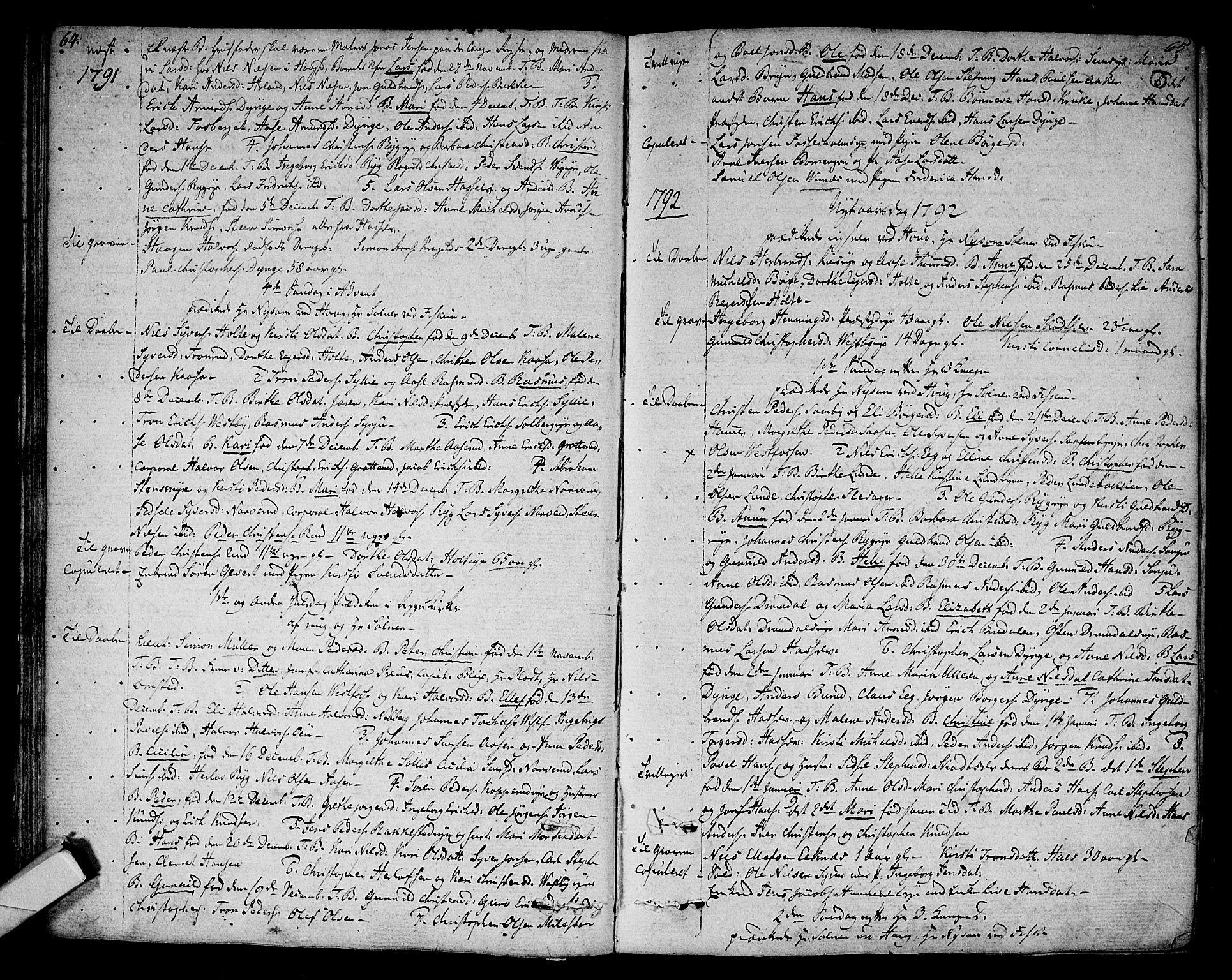 SAKO, Eiker kirkebøker, F/Fa/L0009: Ministerialbok nr. I 9, 1789-1806, s. 64-65