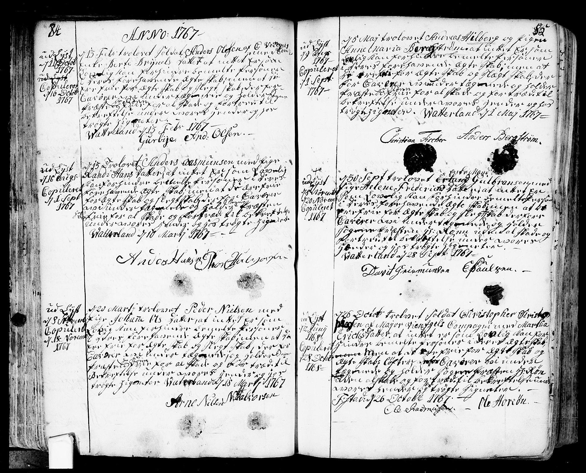 SAO, Fredrikstad prestekontor Kirkebøker, F/Fa/L0002: Ministerialbok nr. 2, 1750-1804, s. 84-85