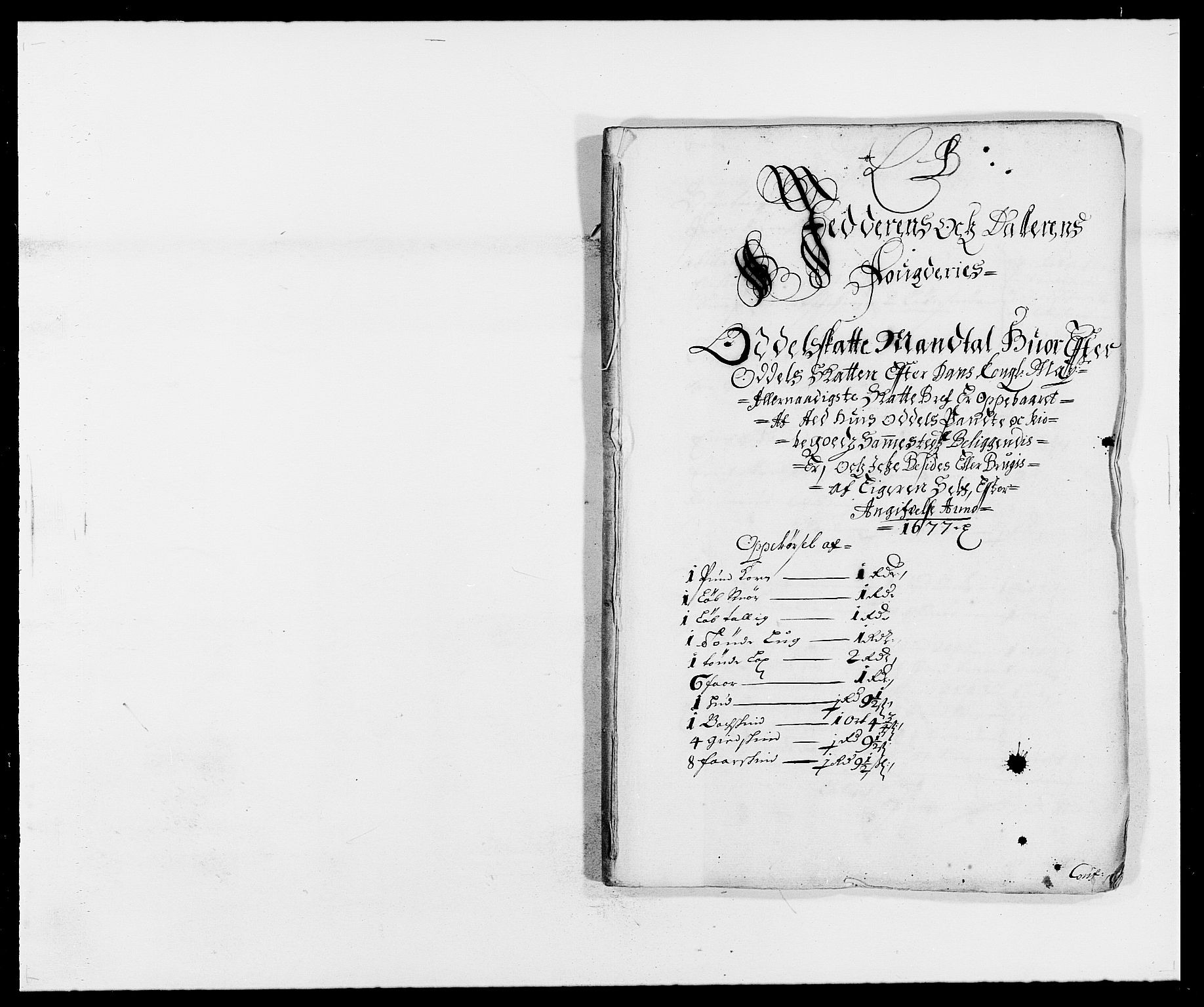 RA, Rentekammeret inntil 1814, Reviderte regnskaper, Fogderegnskap, R46/L2717: Fogderegnskap Jæren og Dalane, 1677, s. 59