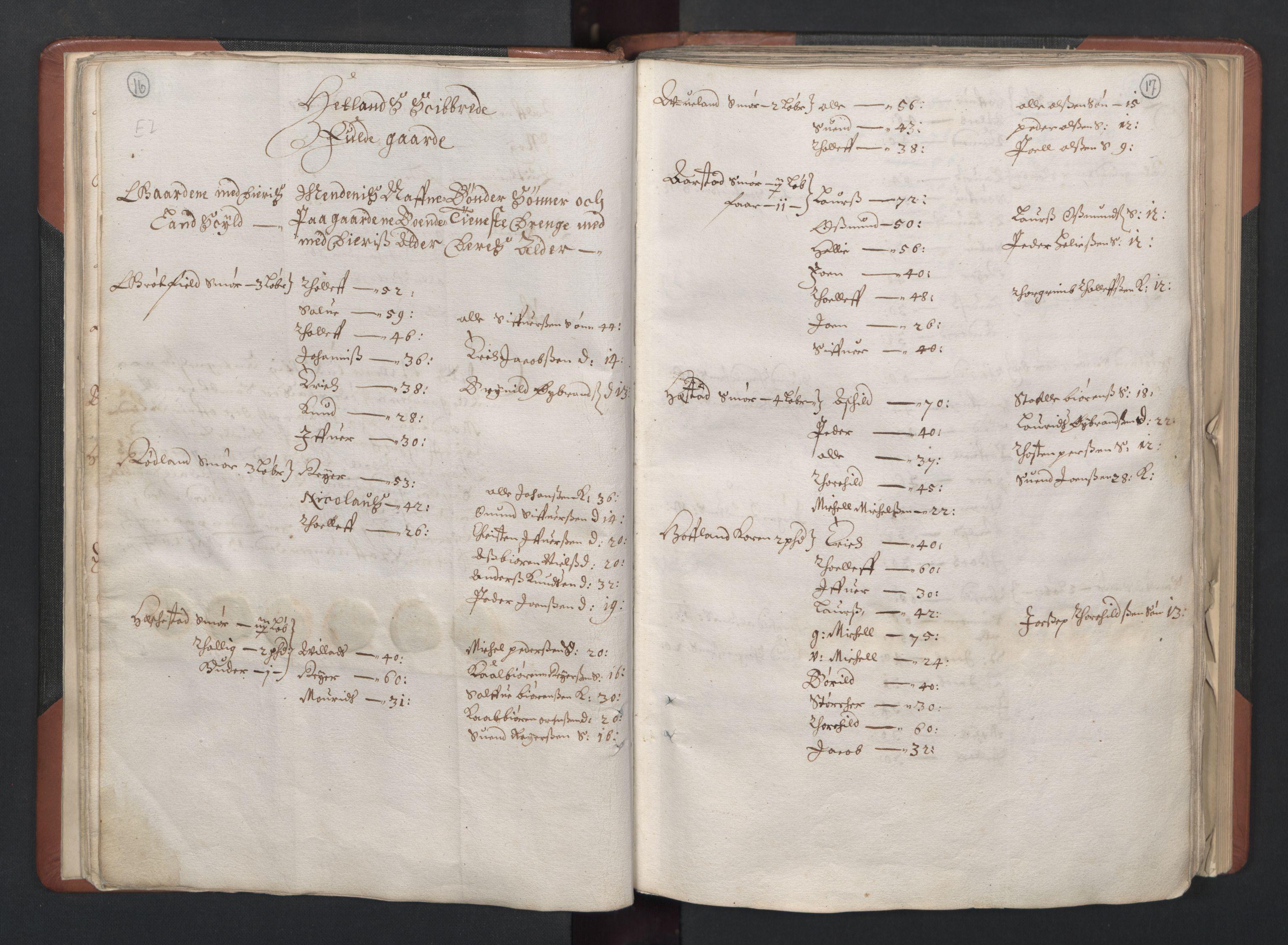 RA, Fogdenes og sorenskrivernes manntall 1664-1666, nr. 11: Jæren og Dalane fogderi, 1664, s. 16-17