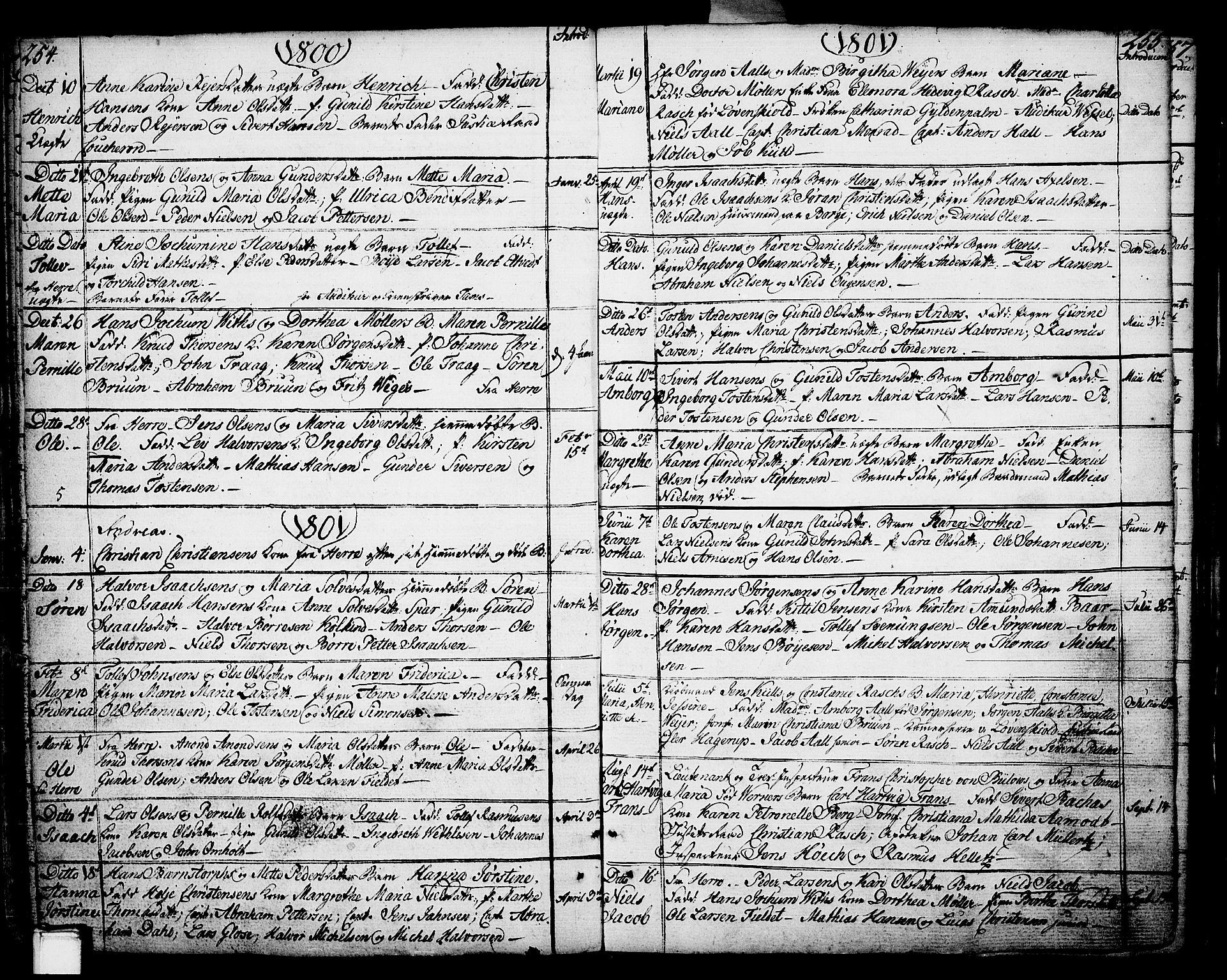 SAKO, Porsgrunn kirkebøker , F/Fa/L0002: Ministerialbok nr. 2, 1764-1814, s. 254-255