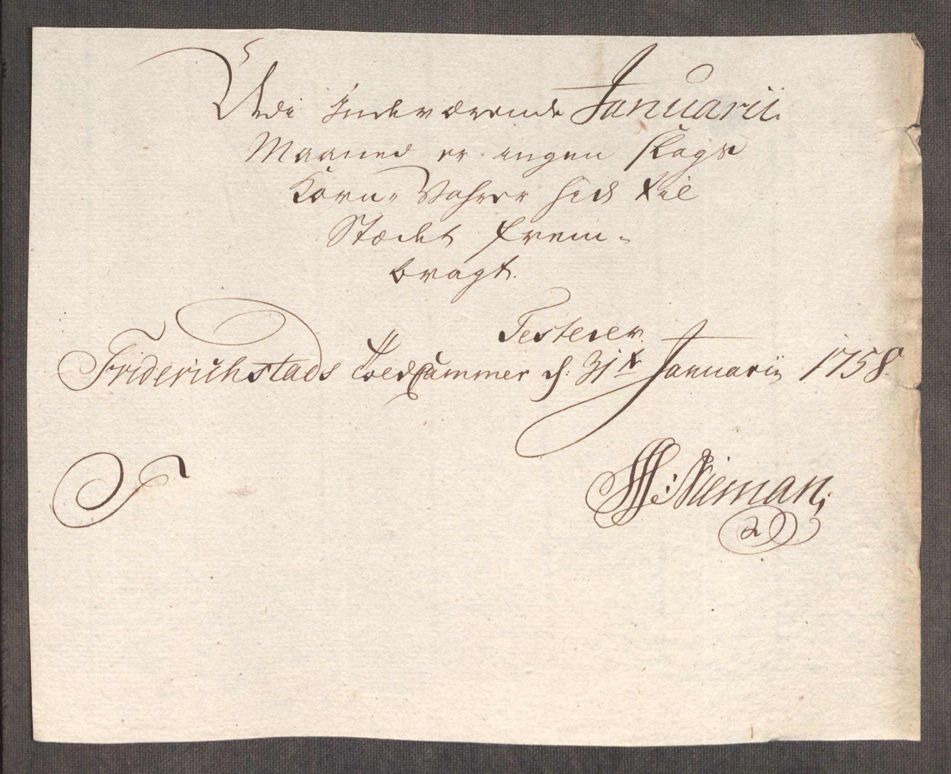RA, Rentekammeret inntil 1814, Realistisk ordnet avdeling, Oe/L0006: [Ø1]: Priskuranter, 1758-1760, s. 38