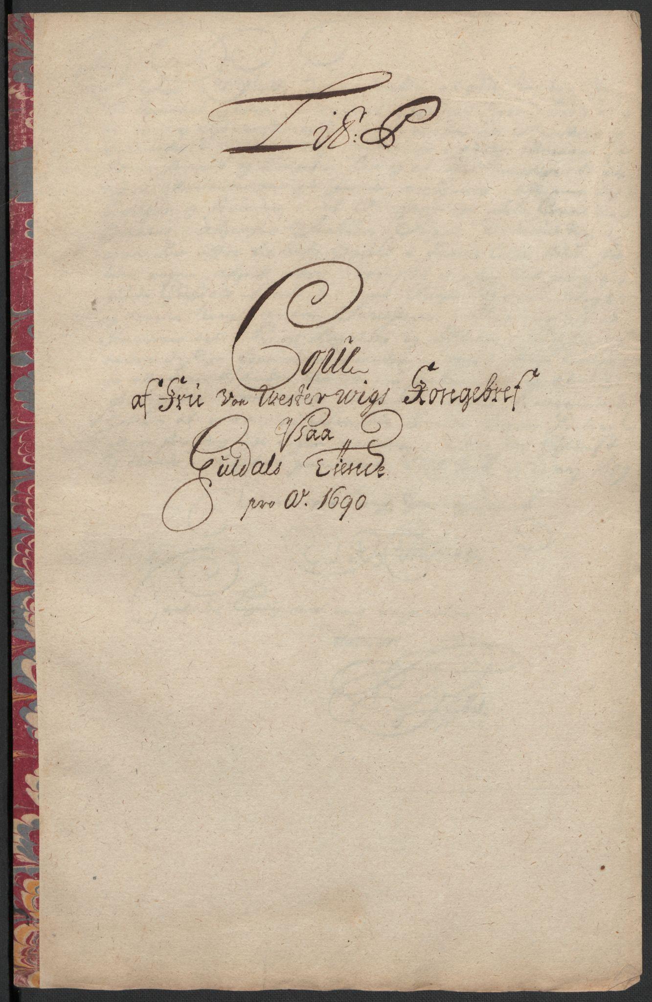 RA, Rentekammeret inntil 1814, Reviderte regnskaper, Fogderegnskap, R59/L3940: Fogderegnskap Gauldal, 1689-1690, s. 356