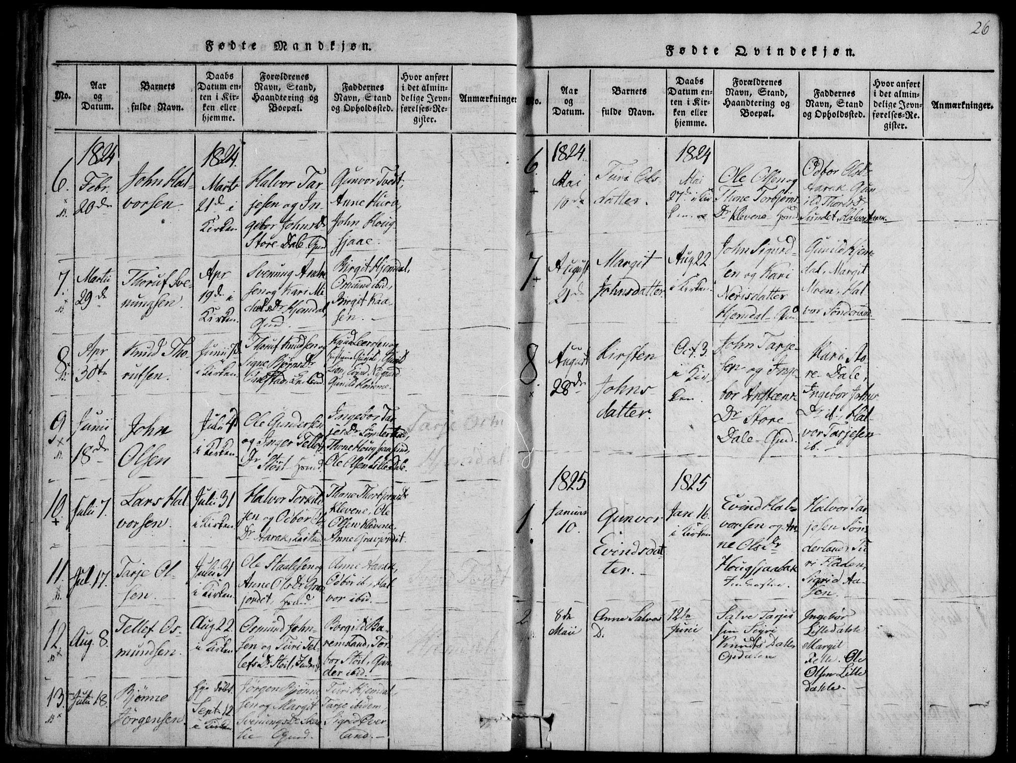 SAKO, Nissedal kirkebøker, F/Fb/L0001: Ministerialbok nr. II 1, 1814-1845, s. 26