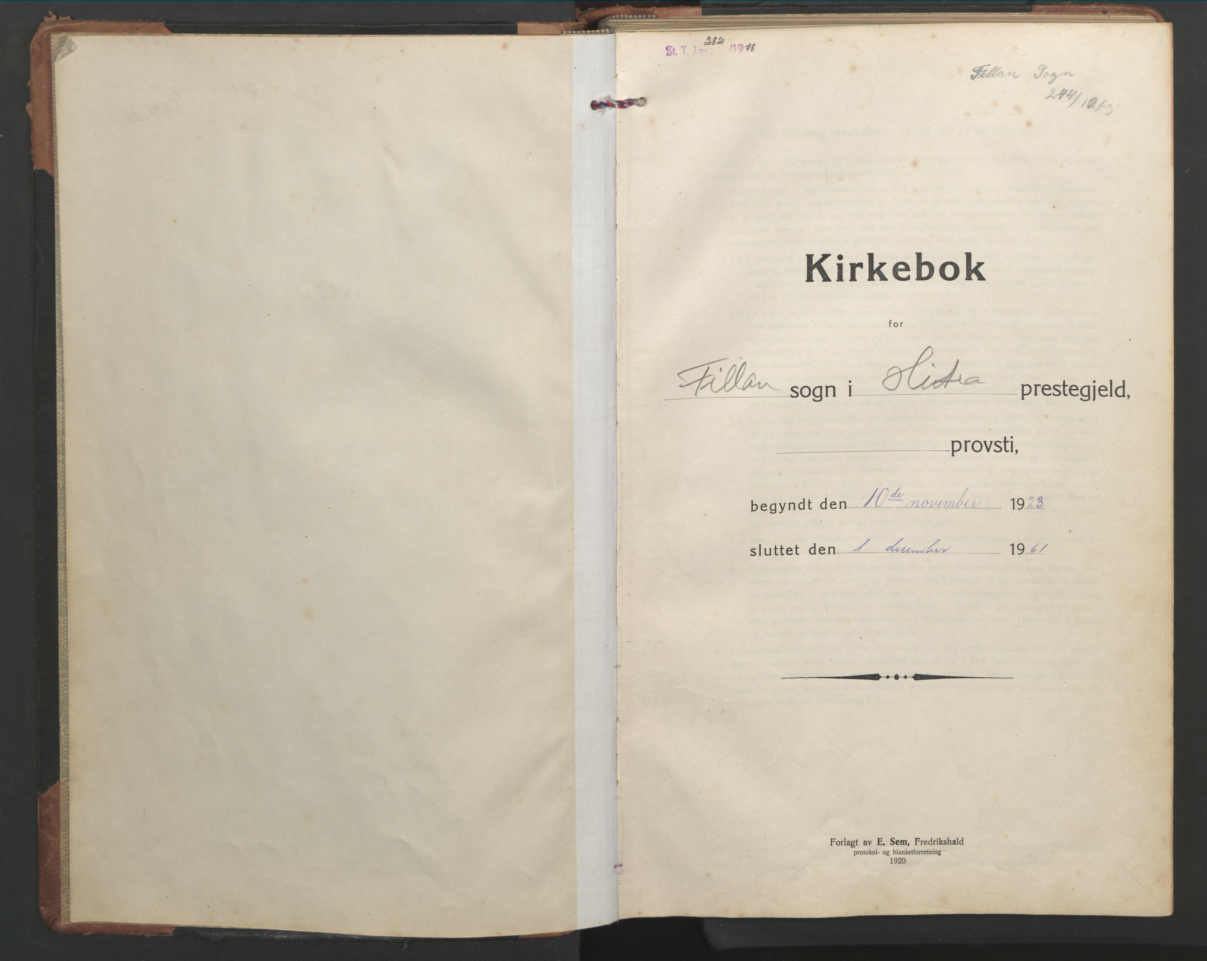SAT, Ministerialprotokoller, klokkerbøker og fødselsregistre - Sør-Trøndelag, 638/L0569: Klokkerbok nr. 638C01, 1923-1961