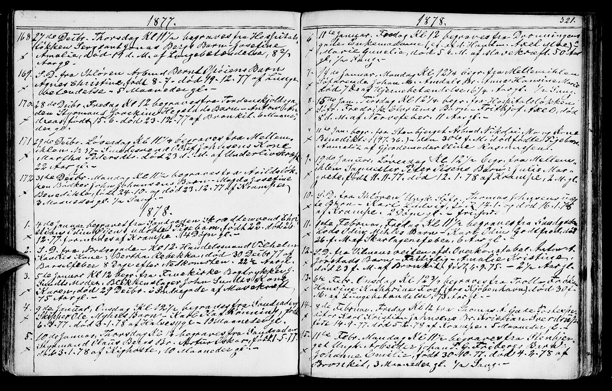 SAT, Ministerialprotokoller, klokkerbøker og fødselsregistre - Sør-Trøndelag, 602/L0142: Klokkerbok nr. 602C10, 1872-1894, s. 321