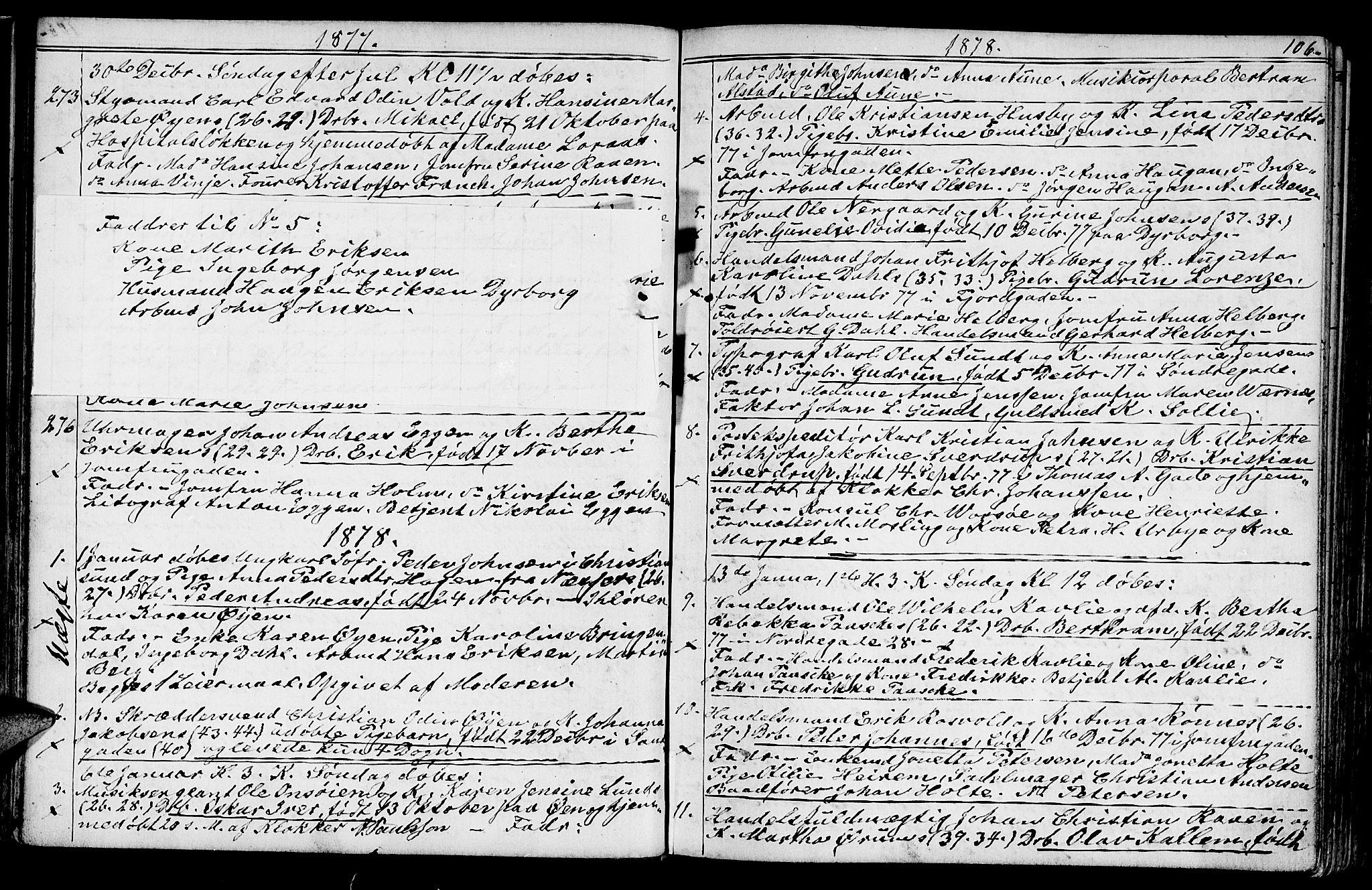 SAT, Ministerialprotokoller, klokkerbøker og fødselsregistre - Sør-Trøndelag, 602/L0142: Klokkerbok nr. 602C10, 1872-1894, s. 106