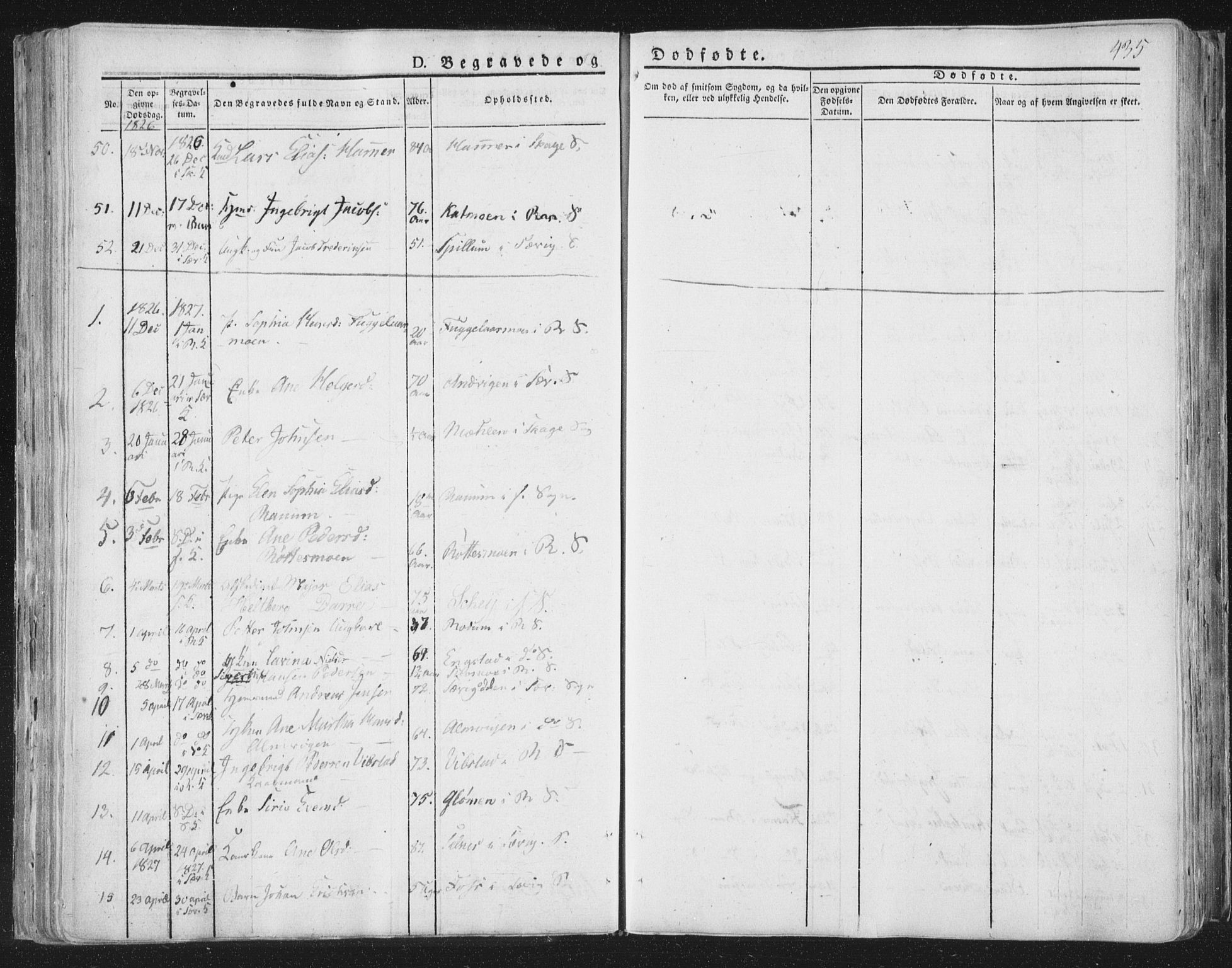 SAT, Ministerialprotokoller, klokkerbøker og fødselsregistre - Nord-Trøndelag, 764/L0552: Ministerialbok nr. 764A07b, 1824-1865, s. 435