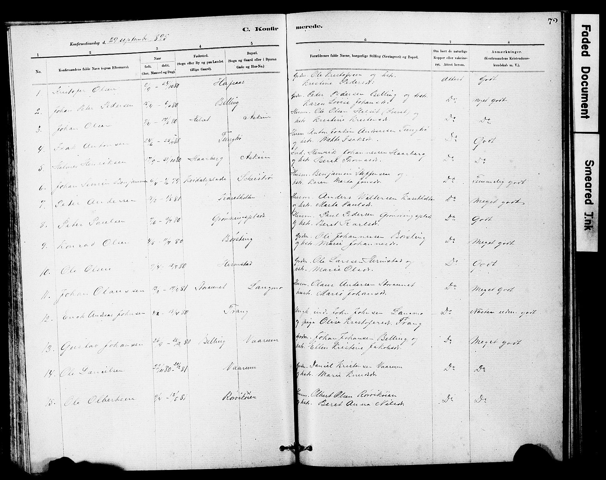 SAT, Ministerialprotokoller, klokkerbøker og fødselsregistre - Sør-Trøndelag, 646/L0628: Klokkerbok nr. 646C01, 1880-1903, s. 72