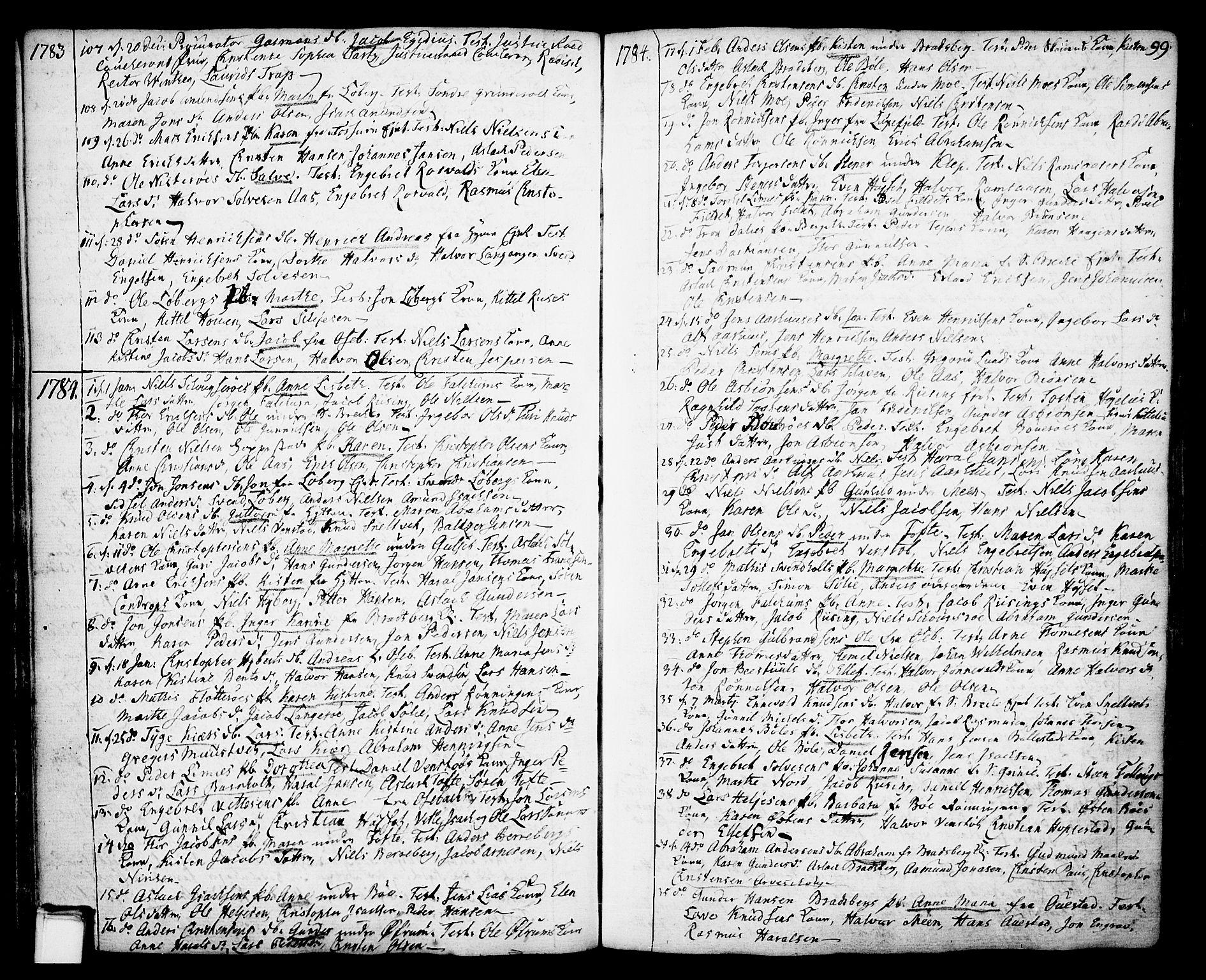 SAKO, Gjerpen kirkebøker, F/Fa/L0002: Ministerialbok nr. 2, 1747-1795, s. 99
