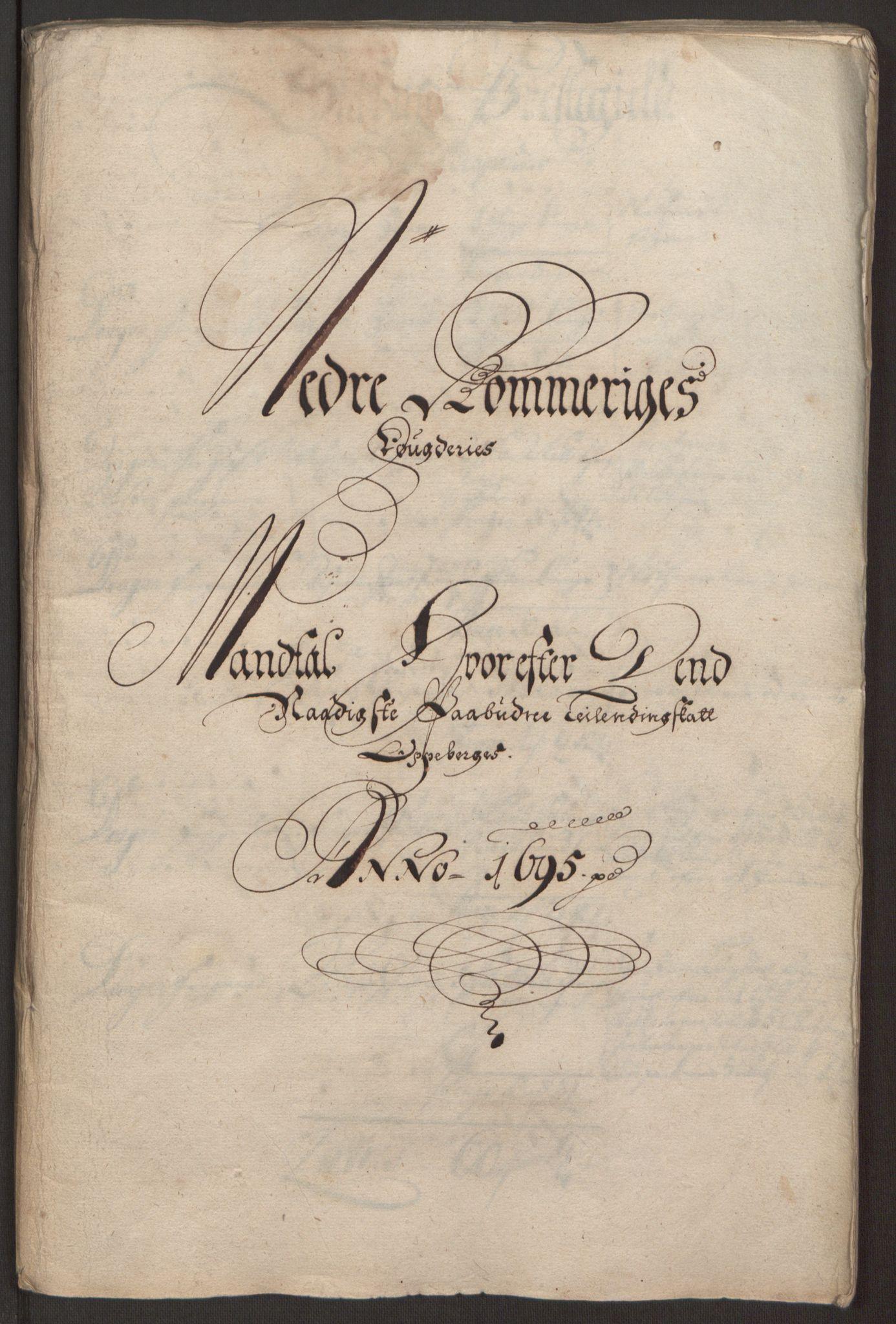 RA, Rentekammeret inntil 1814, Reviderte regnskaper, Fogderegnskap, R11/L0579: Fogderegnskap Nedre Romerike, 1694-1695, s. 283