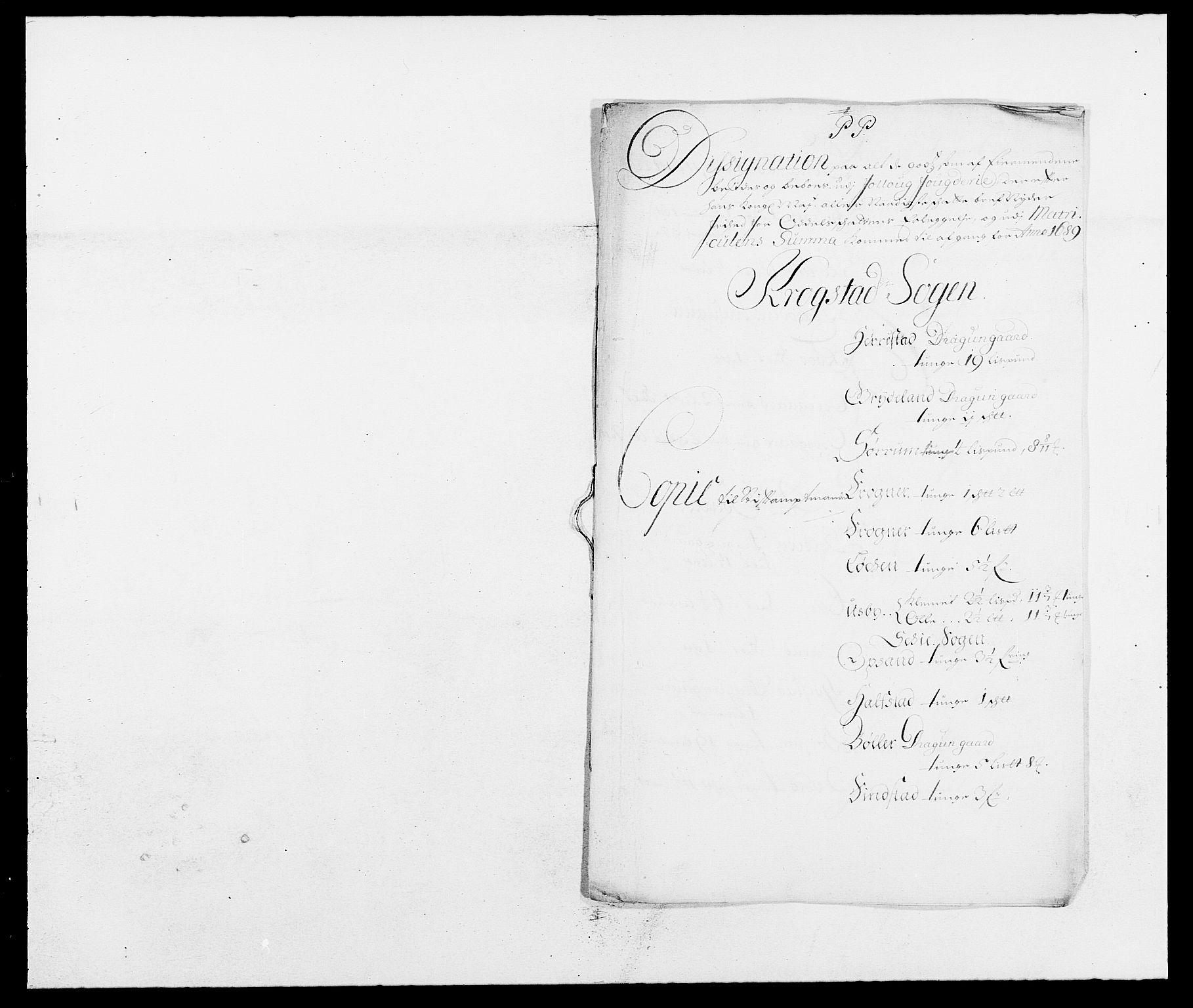 RA, Rentekammeret inntil 1814, Reviderte regnskaper, Fogderegnskap, R09/L0435: Fogderegnskap Follo, 1689-1691, s. 162