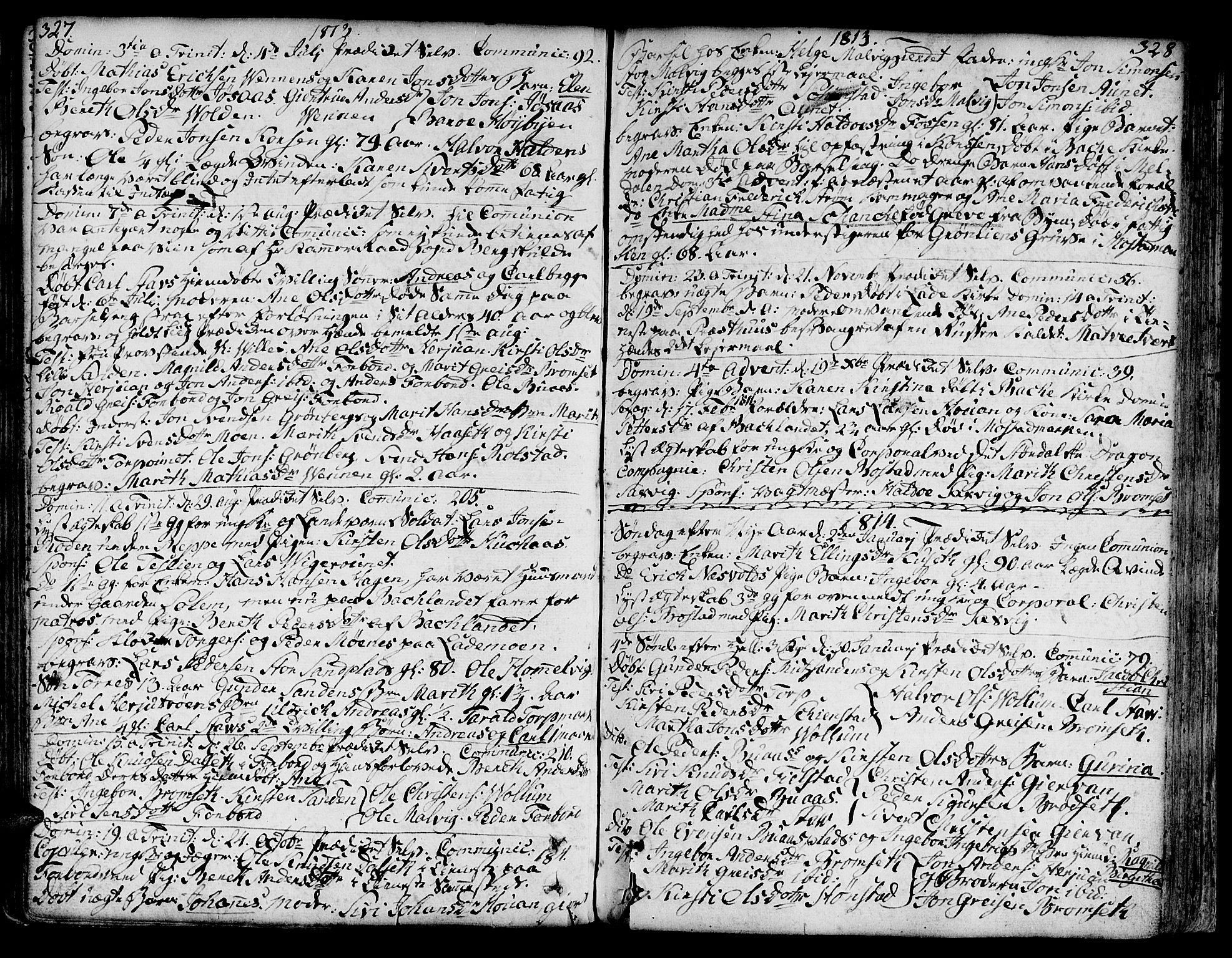 SAT, Ministerialprotokoller, klokkerbøker og fødselsregistre - Sør-Trøndelag, 606/L0281: Ministerialbok nr. 606A02 /2, 1781-1817, s. 327-328