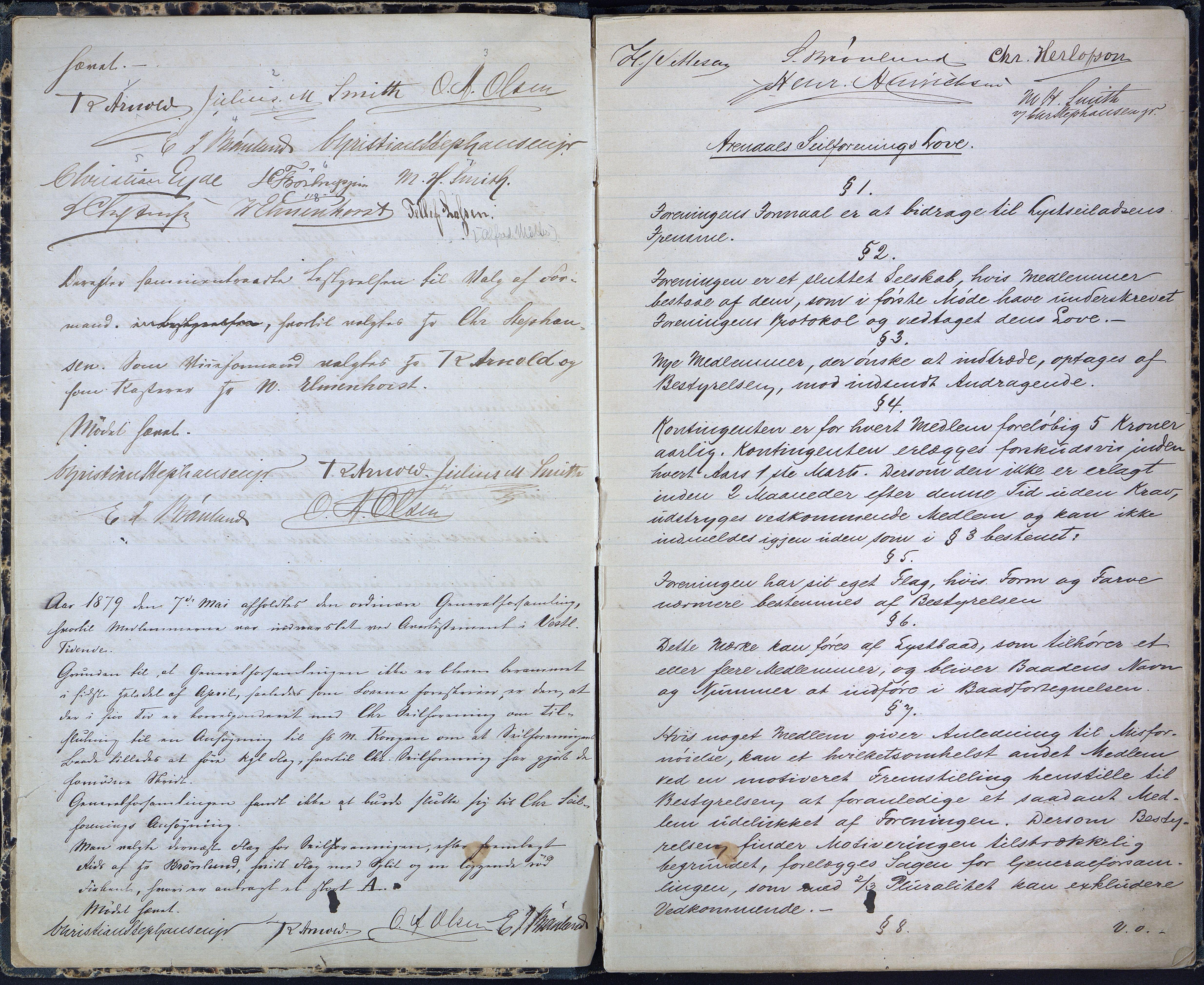 AAKS, Arendal Seilforening, A/A01/L0001: Forhandlingsprotkoll, 1878-1898, s. 2