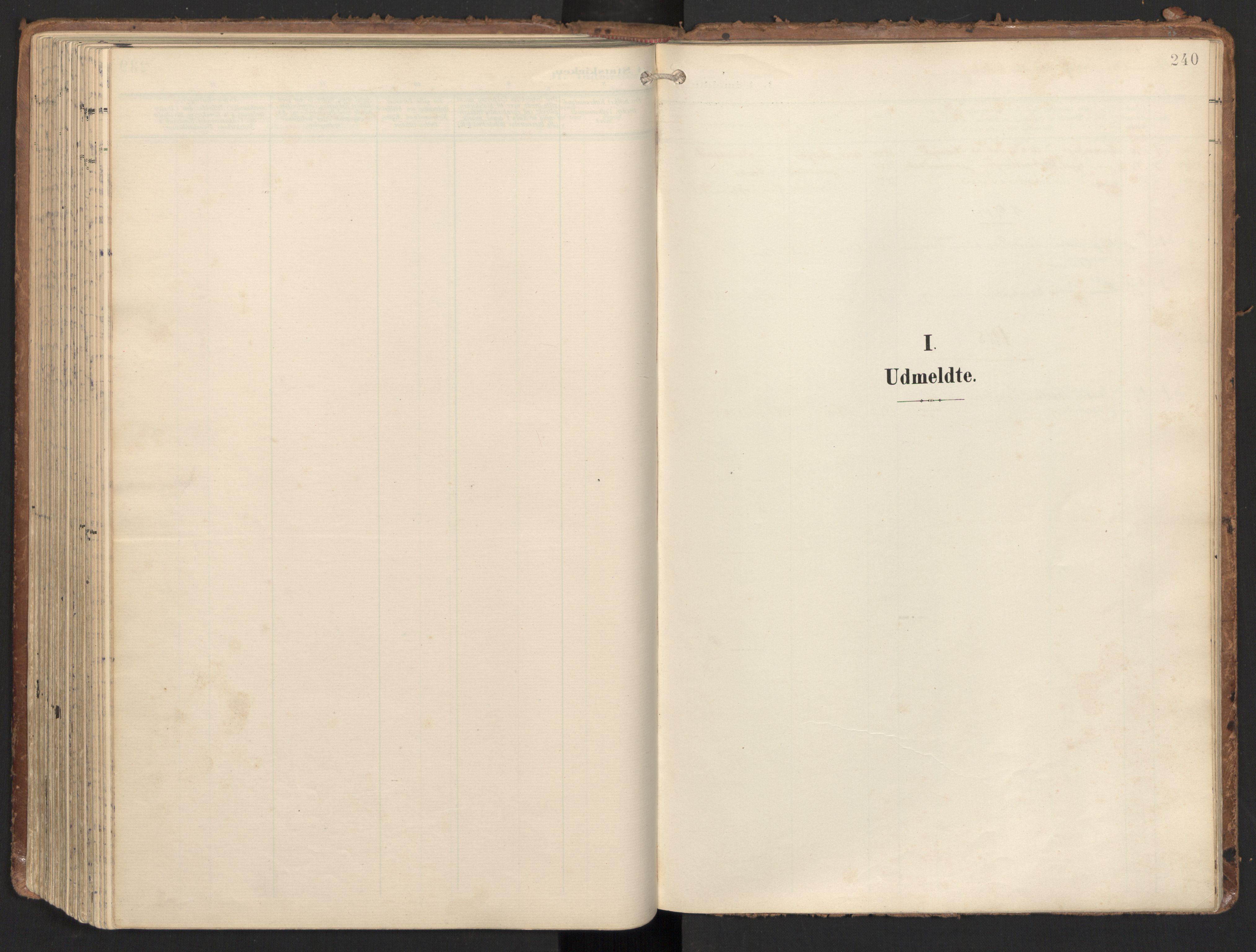 SAT, Ministerialprotokoller, klokkerbøker og fødselsregistre - Nord-Trøndelag, 784/L0677: Ministerialbok nr. 784A12, 1900-1920, s. 240