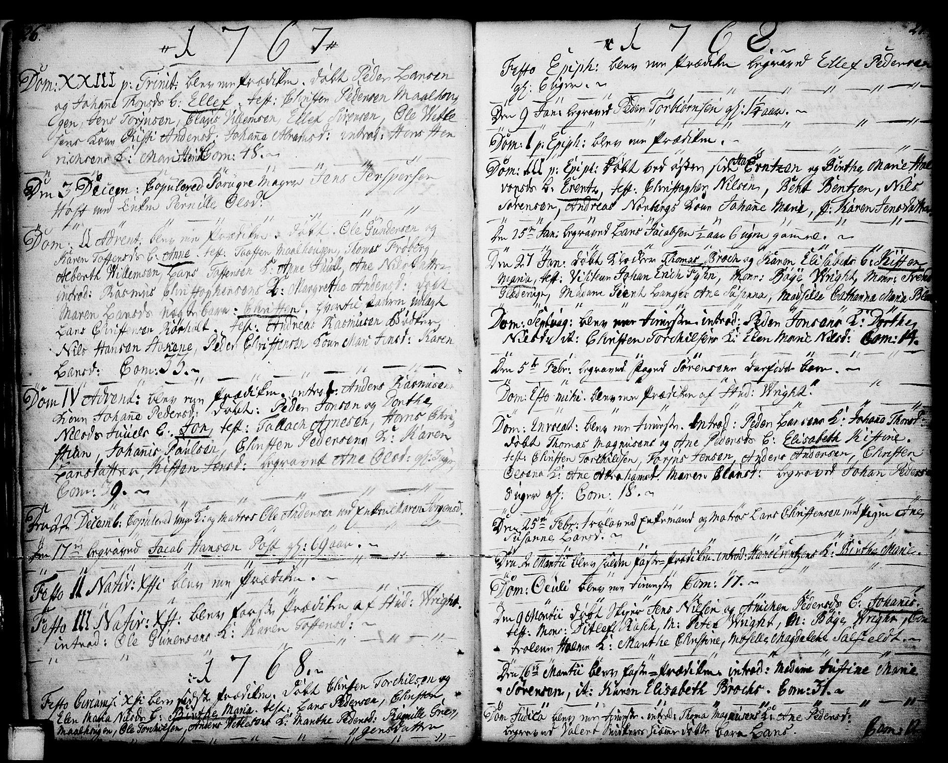 SAKO, Porsgrunn kirkebøker , F/Fa/L0001: Ministerialbok nr. 1, 1764-1814, s. 26-27