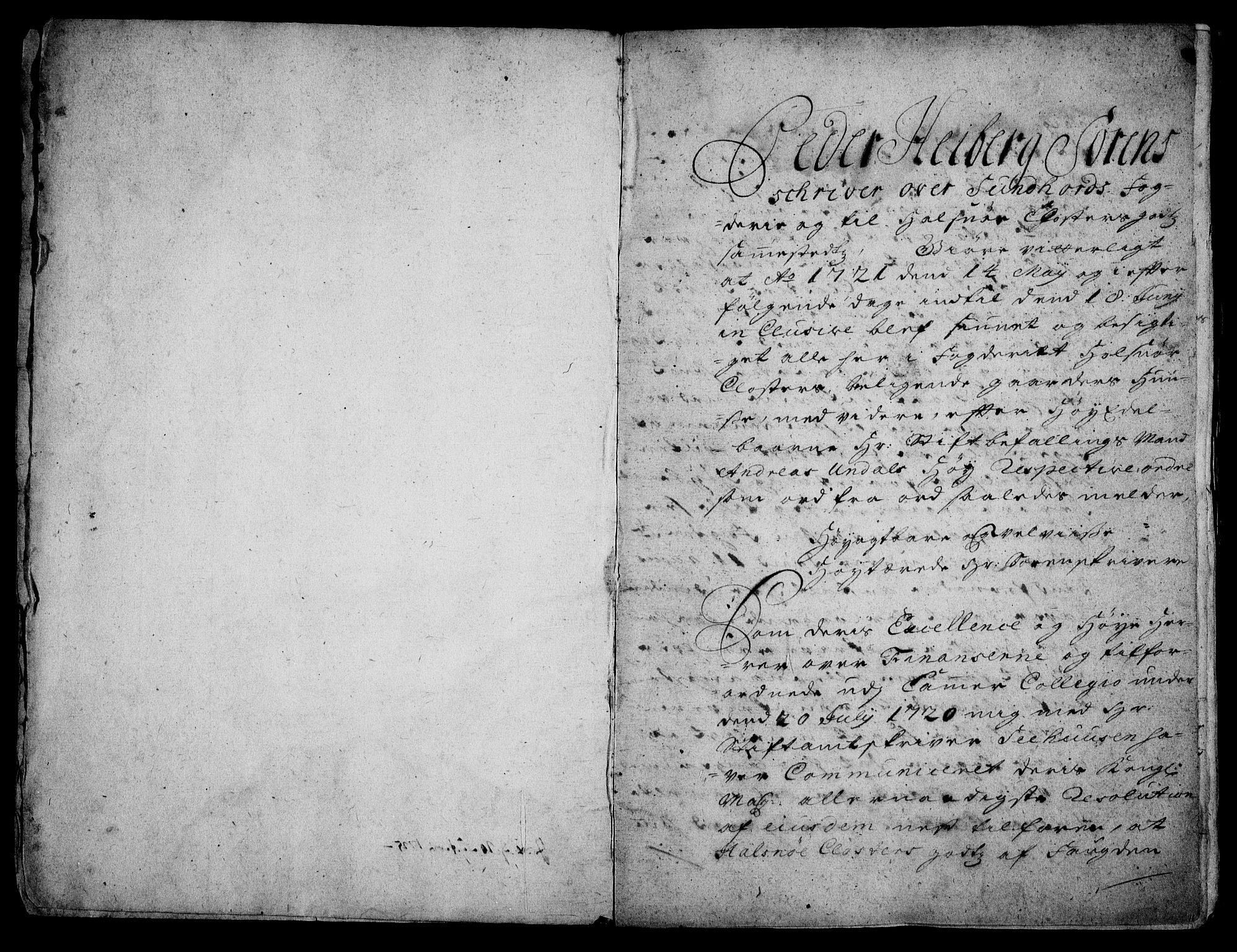 RA, Rentekammeret inntil 1814, Realistisk ordnet avdeling, On/L0003: [Jj 4]: Kommisjonsforretning over Vilhelm Hanssøns forpaktning av Halsnøy klosters gods, 1721-1729, s. 2