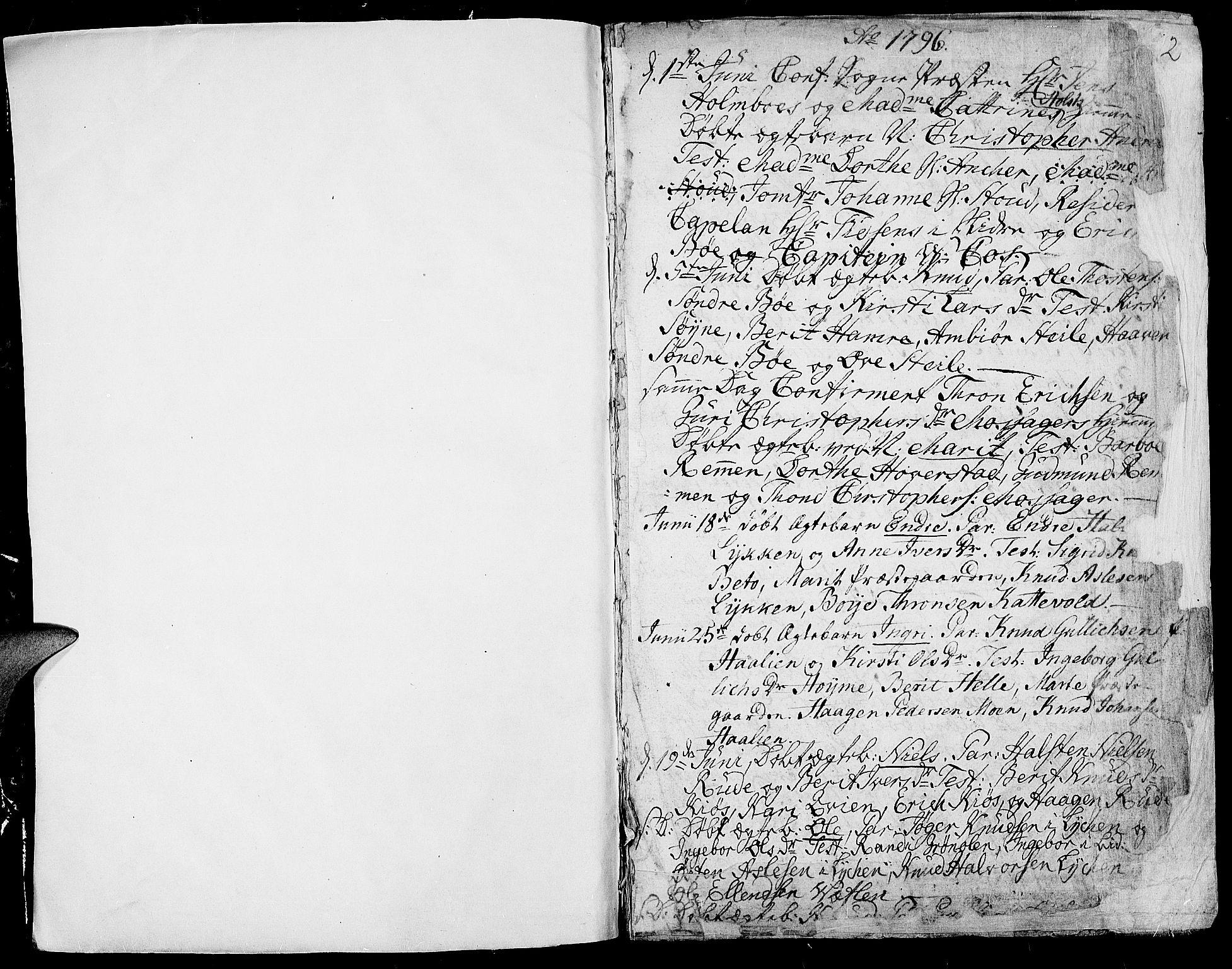 SAH, Vang prestekontor, Valdres, Ministerialbok nr. 2, 1796-1808, s. 1-2