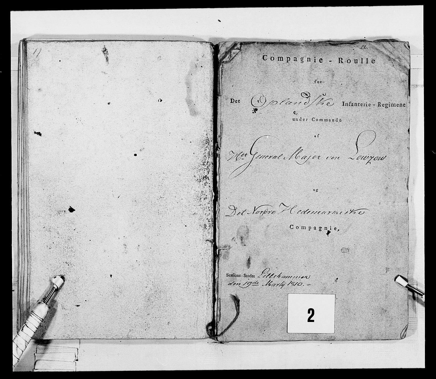 RA, Generalitets- og kommissariatskollegiet, Det kongelige norske kommissariatskollegium, E/Eh/L0069: Opplandske gevorbne infanteriregiment, 1810-1818, s. 62