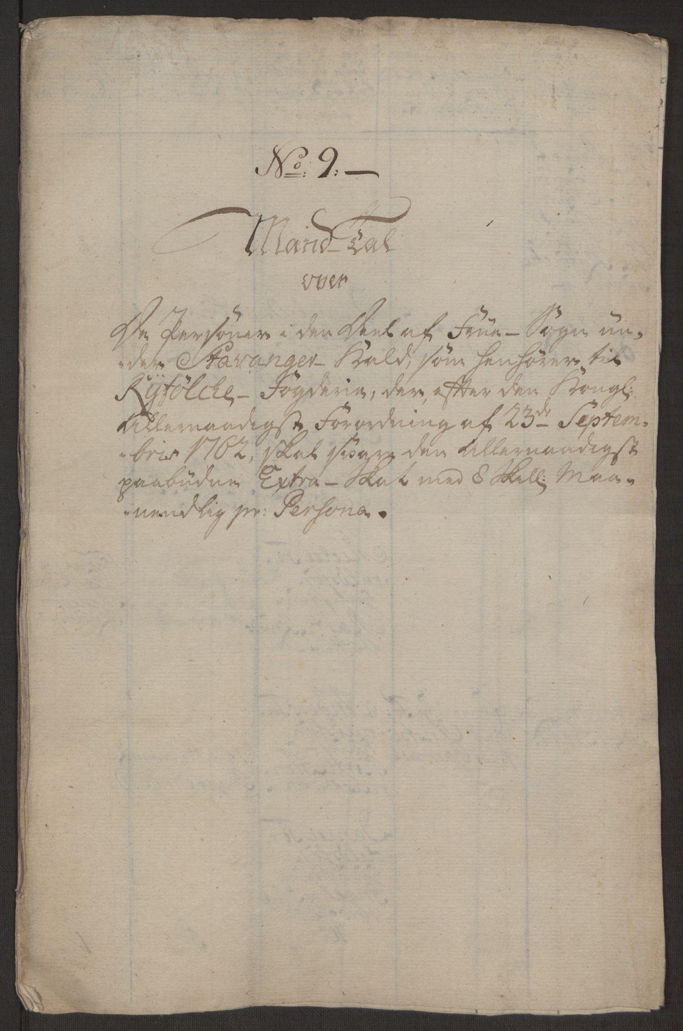 RA, Rentekammeret inntil 1814, Reviderte regnskaper, Hovedkasseregnskaper, Rf/L0072b: Ekstraskatteregnskap, 1762, s. 468